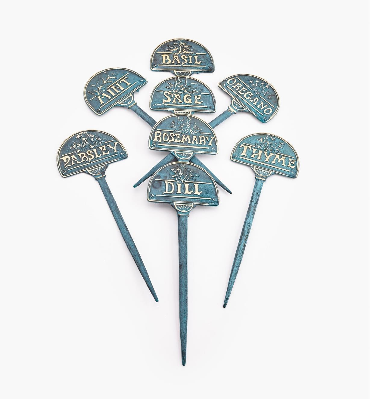 EA320 - Brass Herb Markers, set of 8