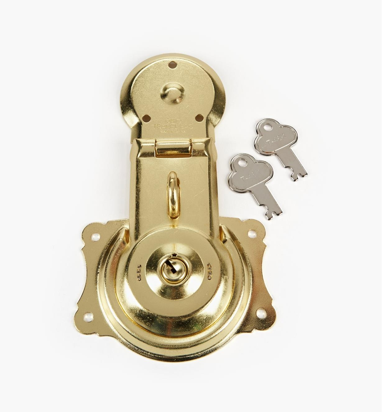 00S6302 - Brass-Plated Trunk Lock, ea.