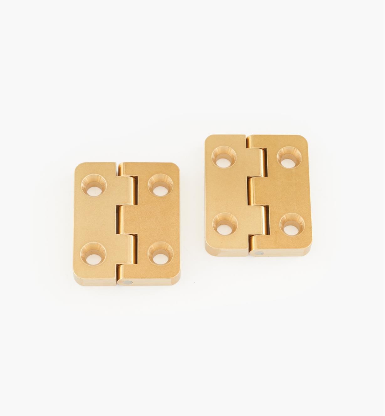 01B0404 - Charnières à butée à fixation arrière Brusso, 1 1/4 po x 1 po, la paire