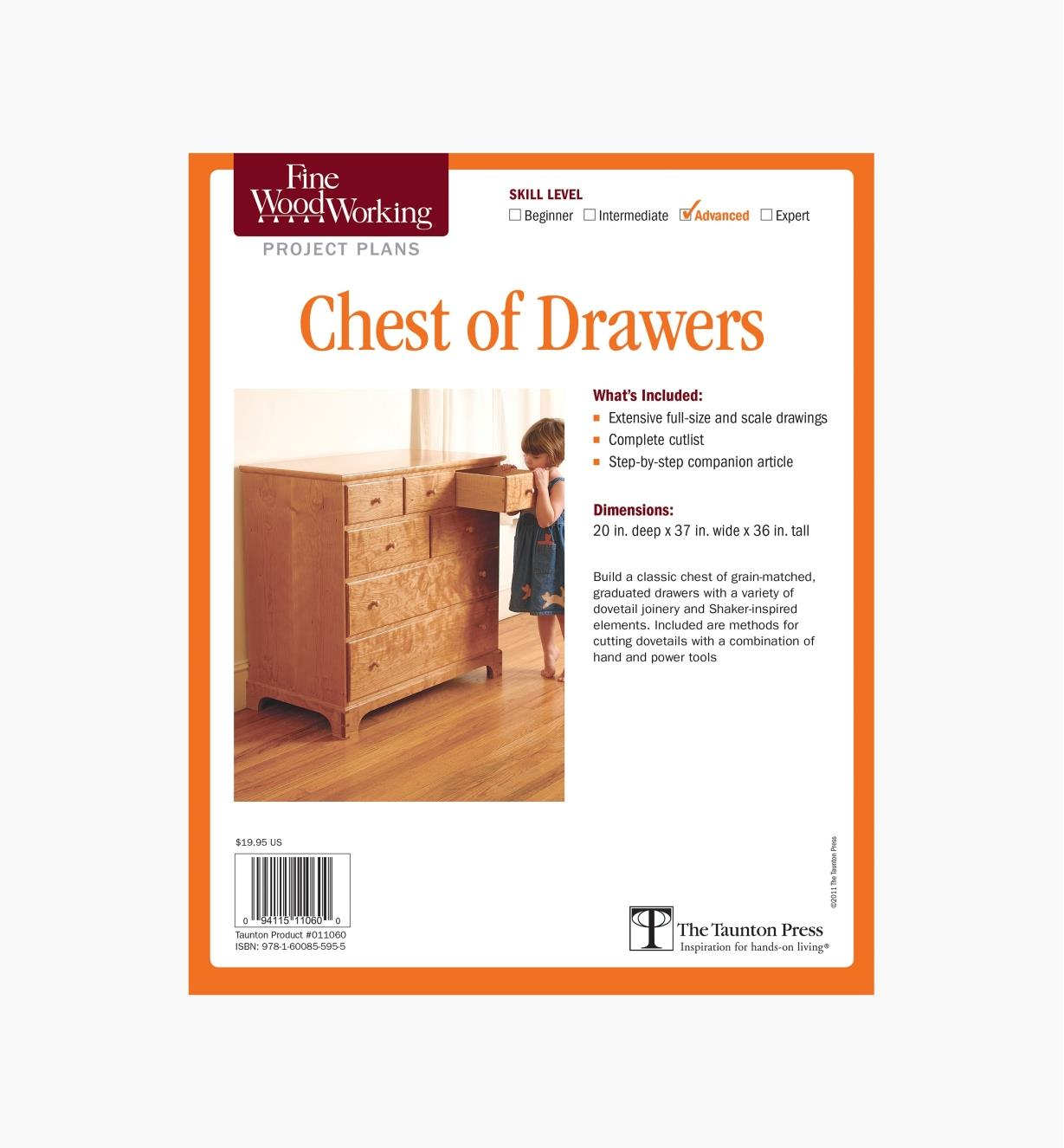 73L2518 - Chest of Drawers Plan