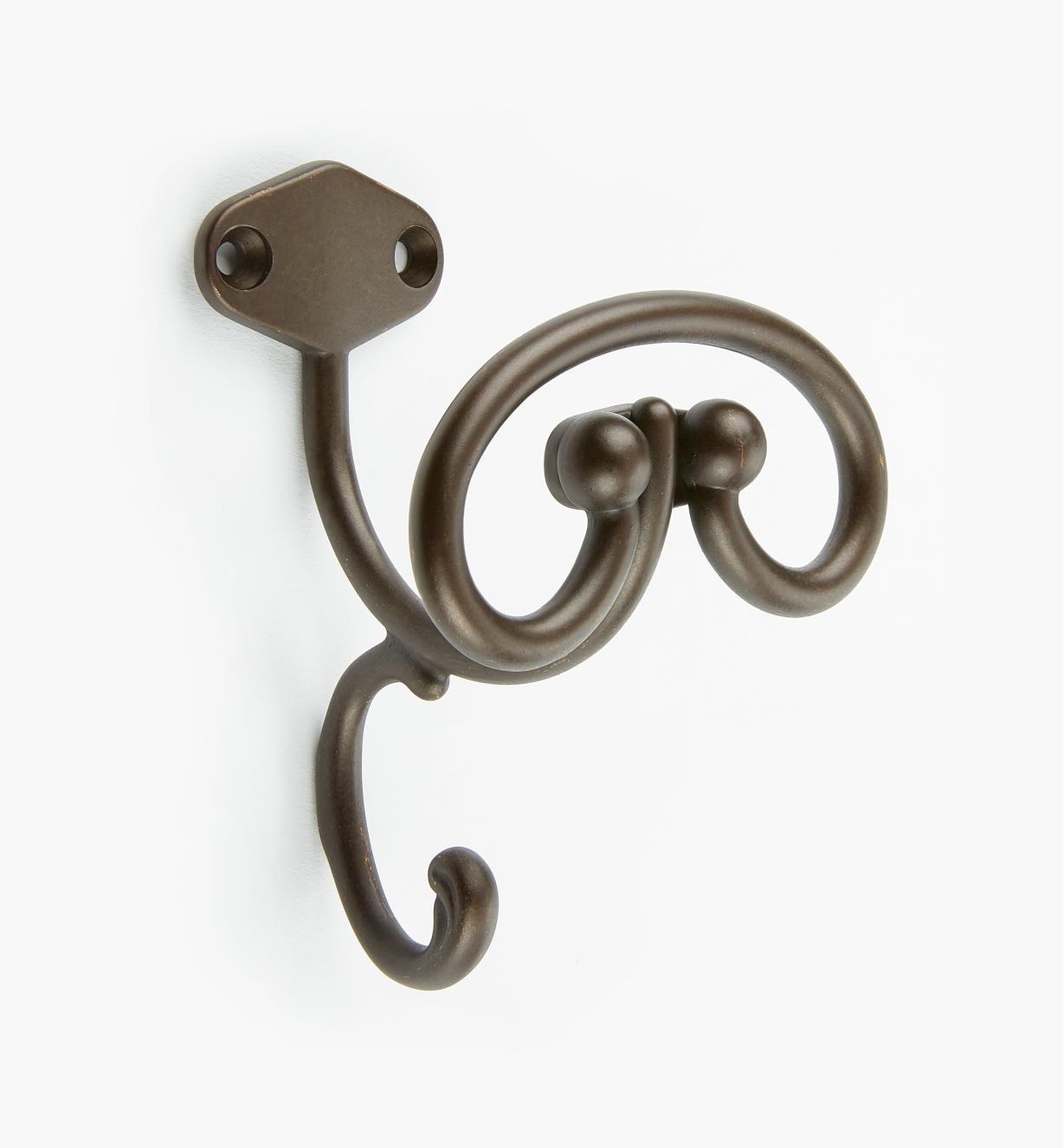 00A7731 - 105mm Dark Bronze Coat Hook