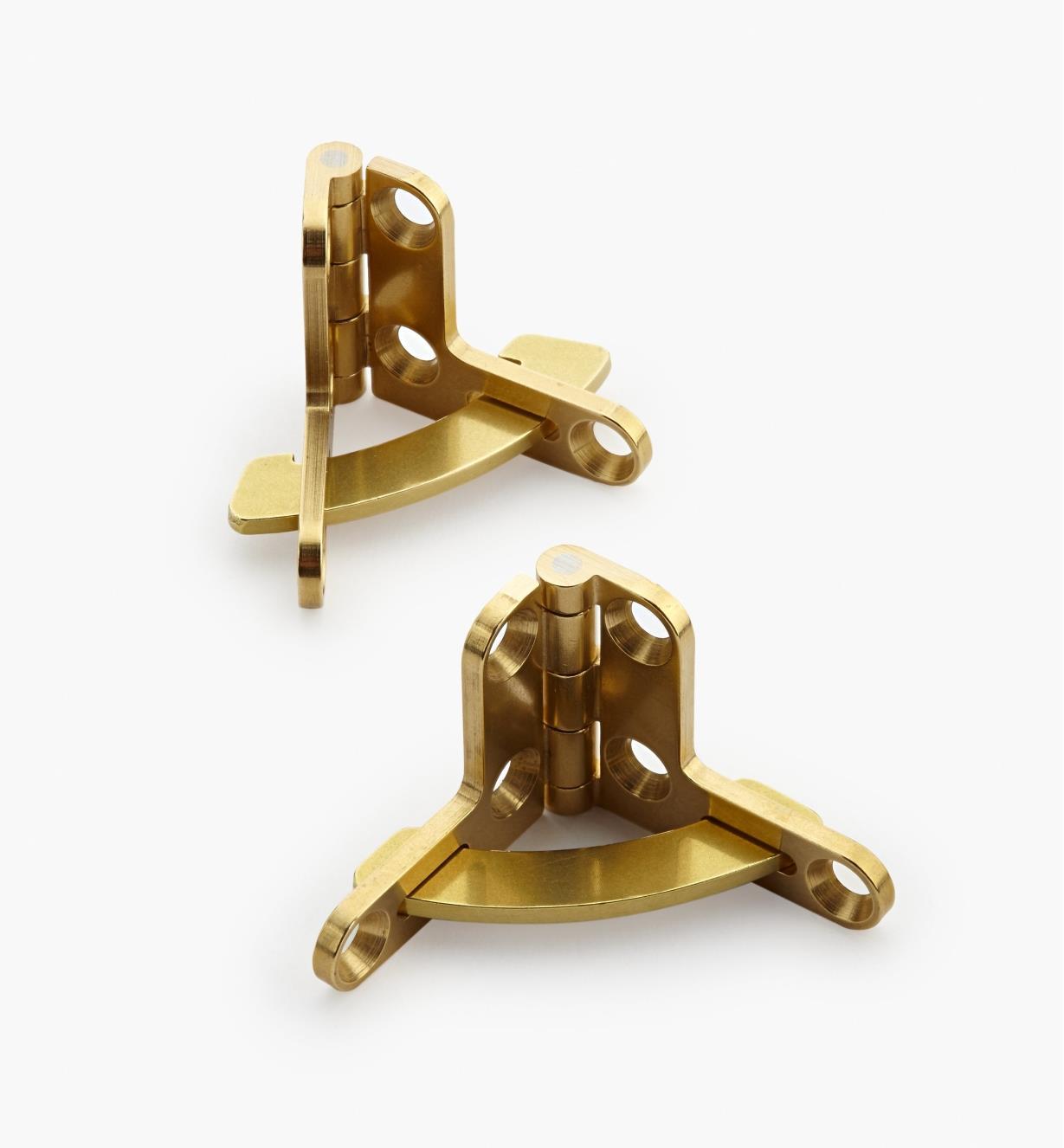 01B0501 - Charnières à compas pour coffret Brusso, 1 po x 5/16 po, la paire