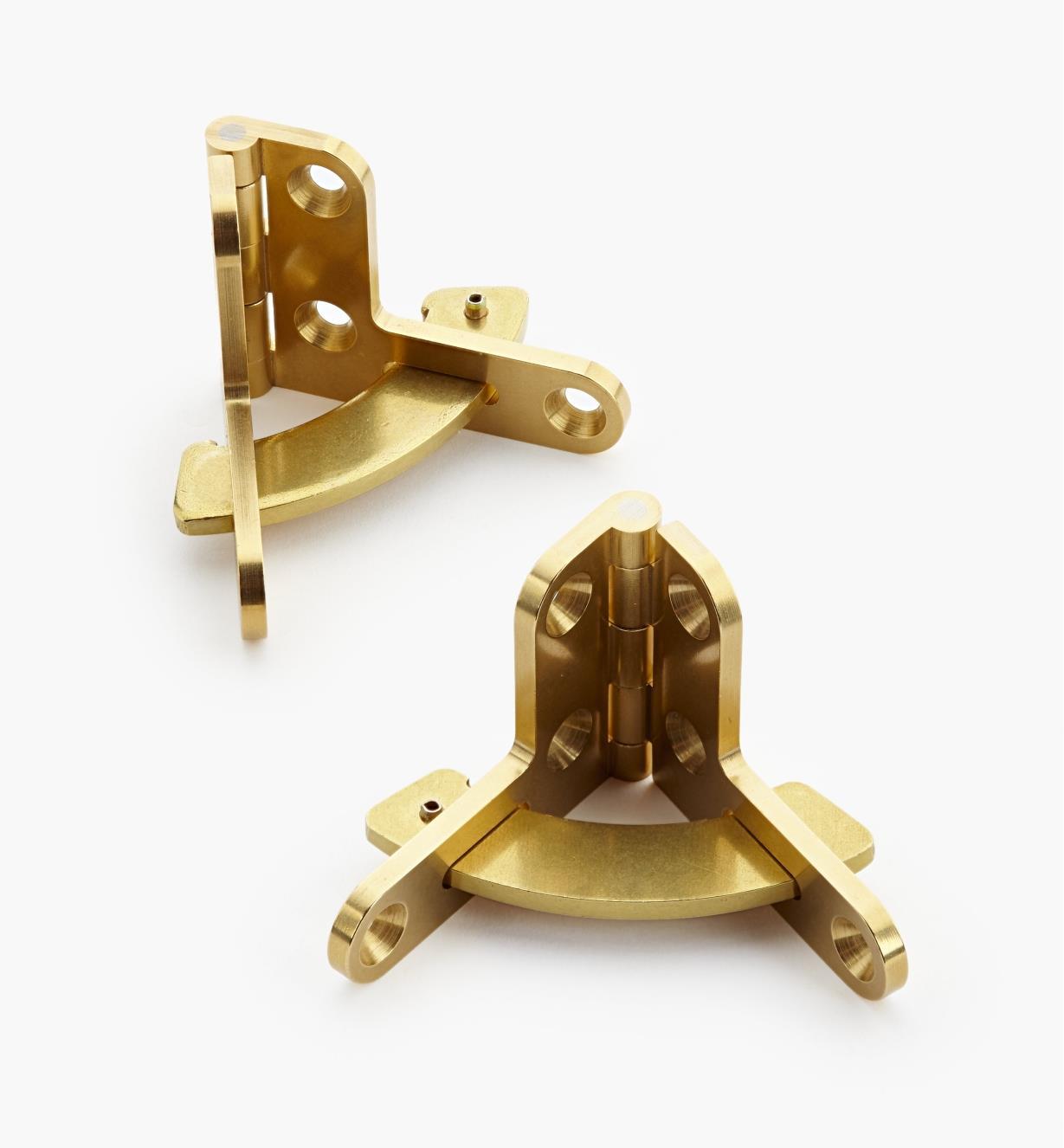 01B0504 - Charnières à compas pour coffret Brusso, 1 1/2 po x 1/2 po, la paire