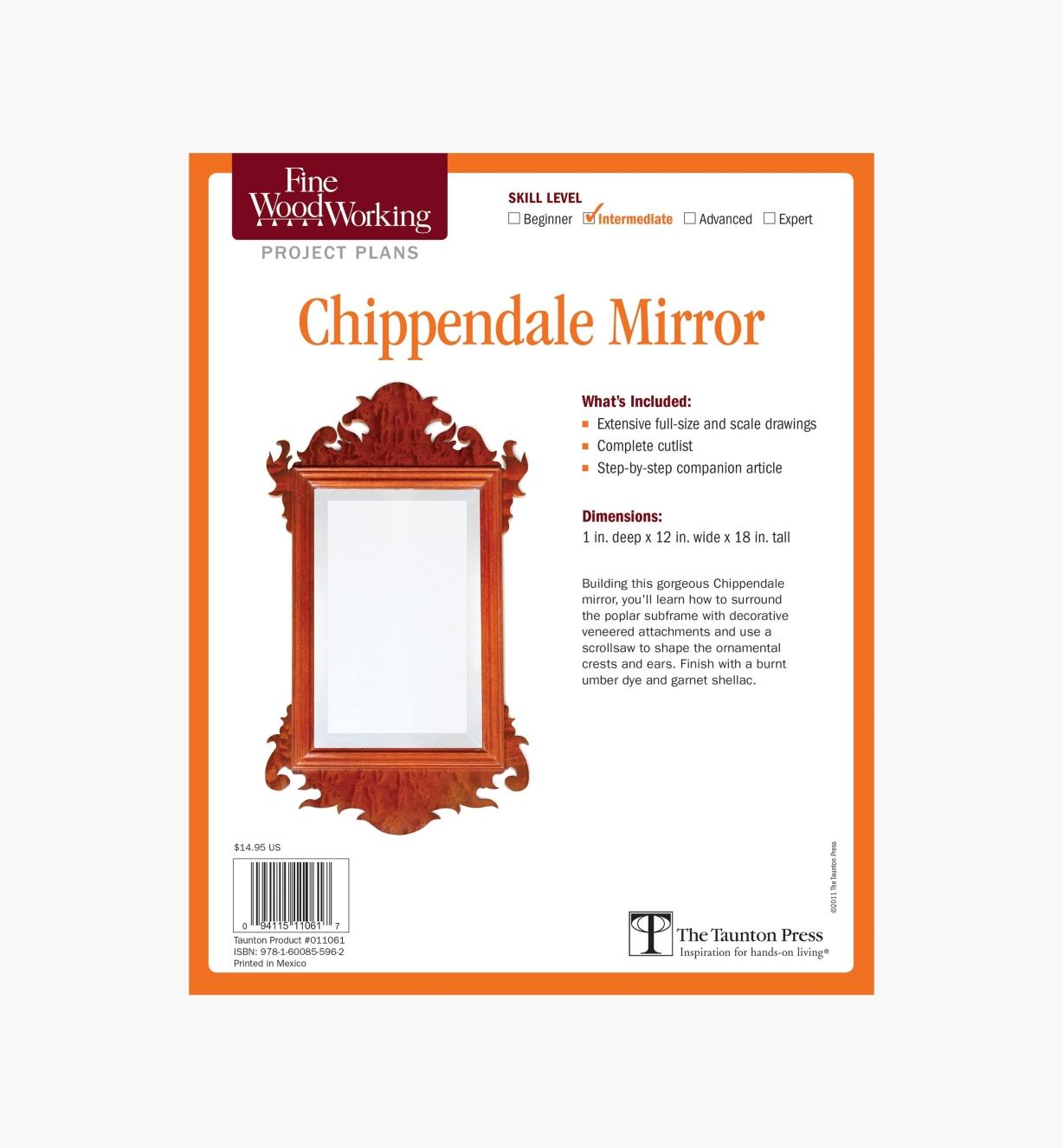 73L2540 - Chippendale Mirror Plan