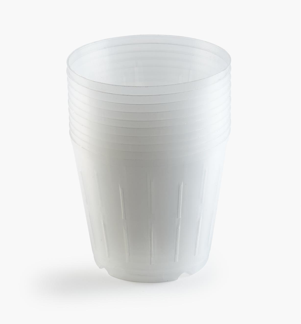 XB755 - Clear Orchid Pots, pkg. of 10