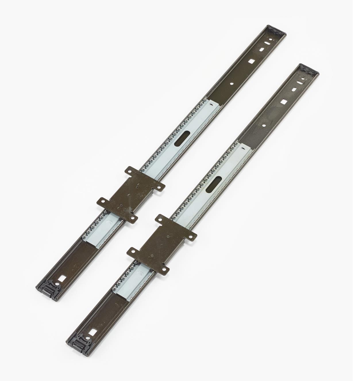 02K3522 - Coulisses pour porte escamotable, 22po, la paire