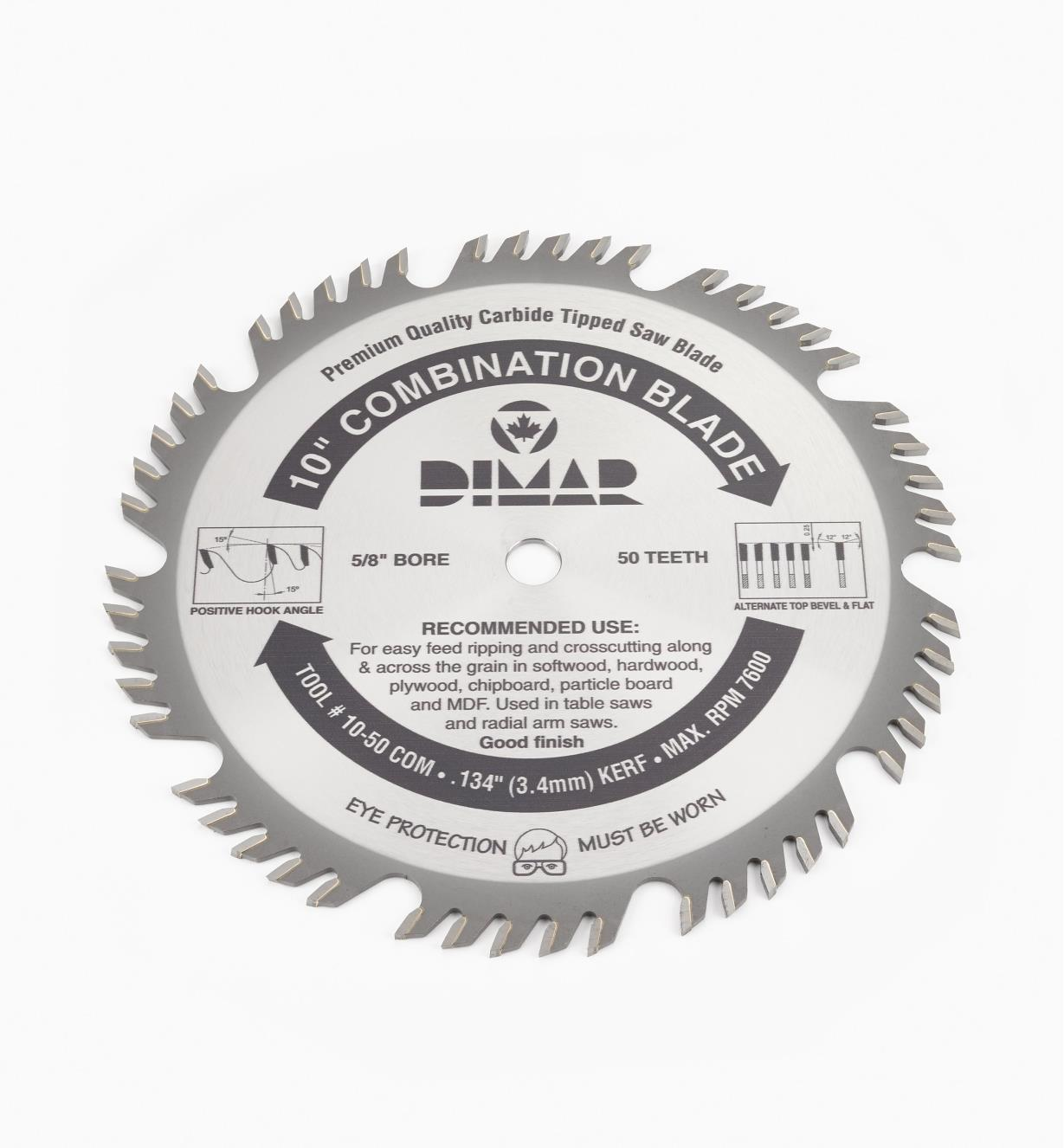 "15T5010 - Combination Blade, 10"" x 50 tooth"