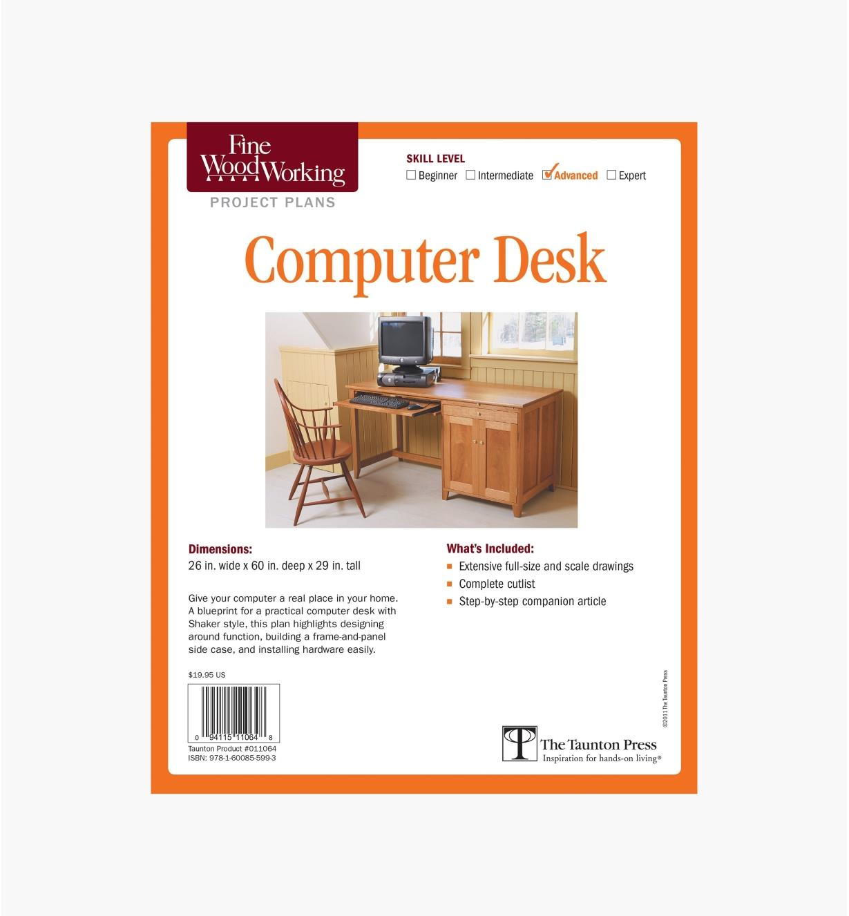 73L2520 - Computer Desk Plan