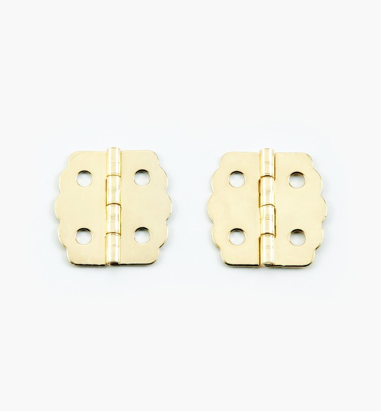 00D8030 - 23mm x 22mm Decorative Hinges, pr.