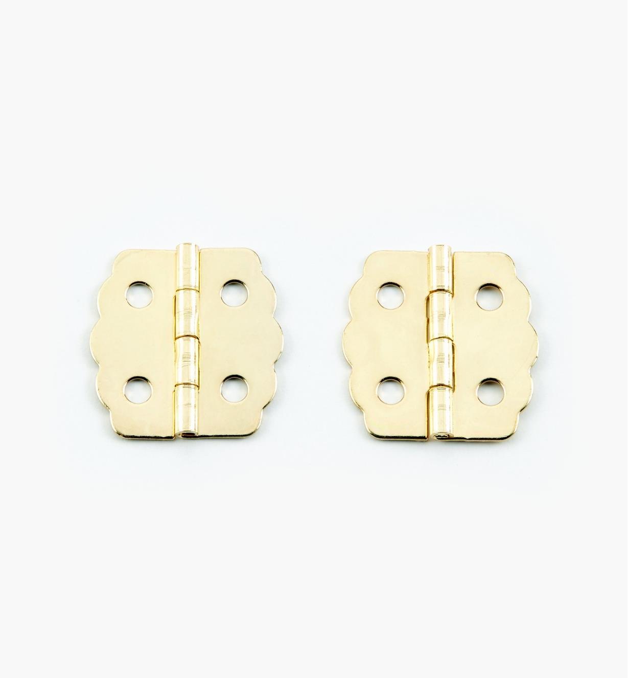 00D8030 - Petites charnières décoratives, 23 mm x 22 mm, lapaire