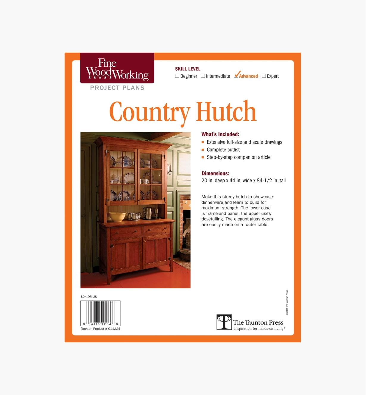 73L2505 - Country Hutch Plan