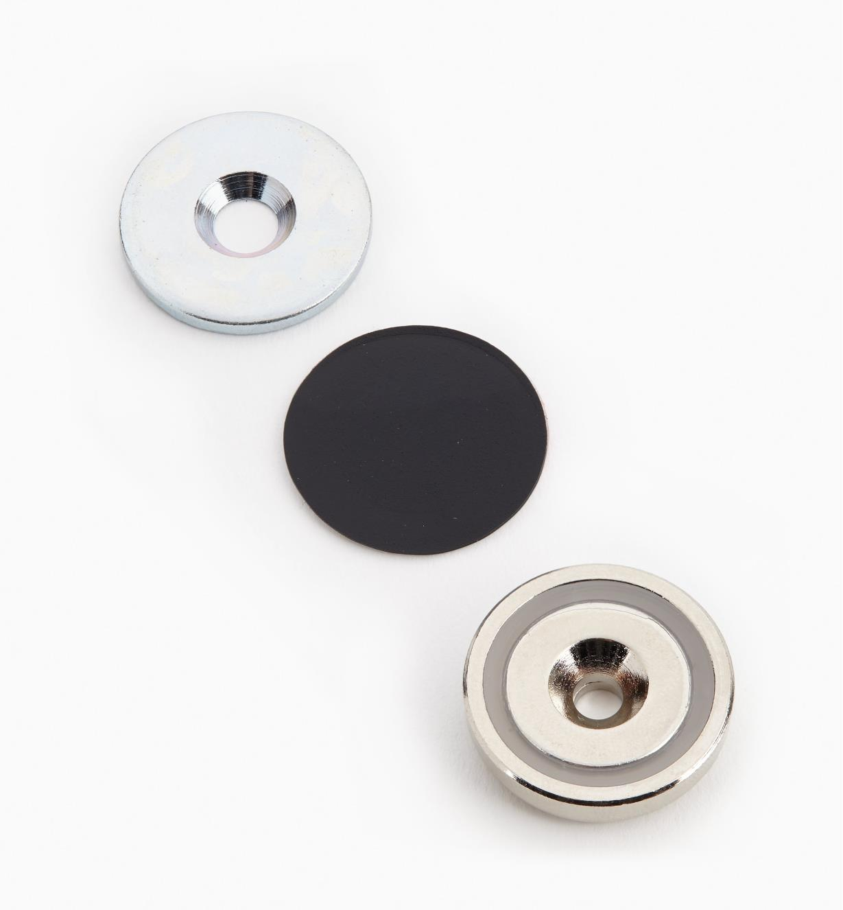 "99K3907 - 1"" Cupped Magnet Set"