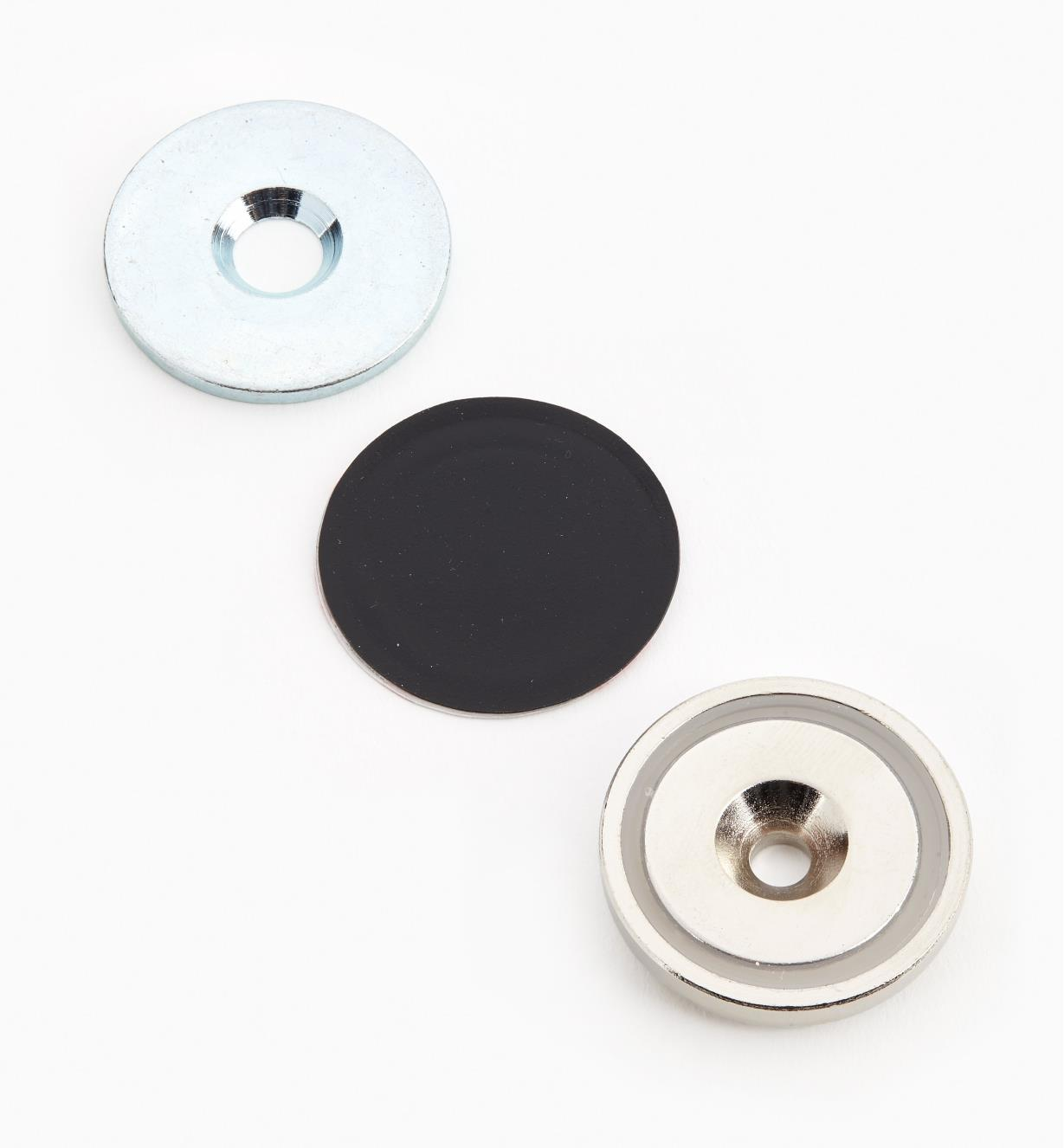 "99K3909 - 1 1/4"" Cupped Magnet Set"