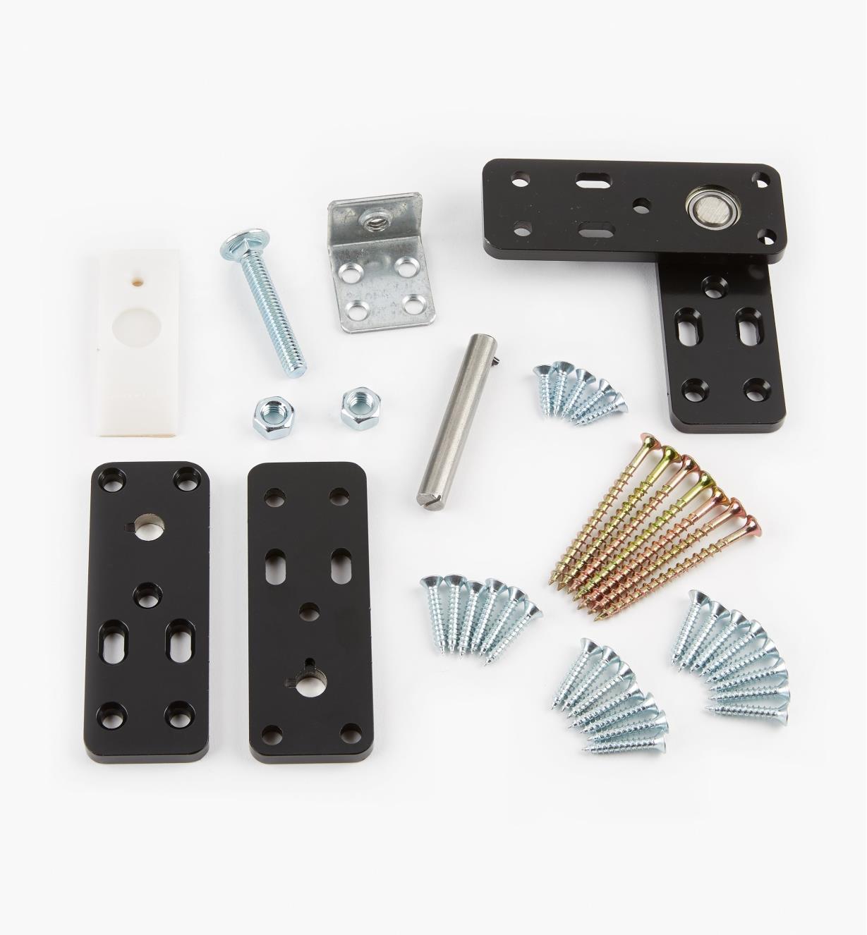 12K9351 - Flush-Mount Murphy Door Hardware Kit