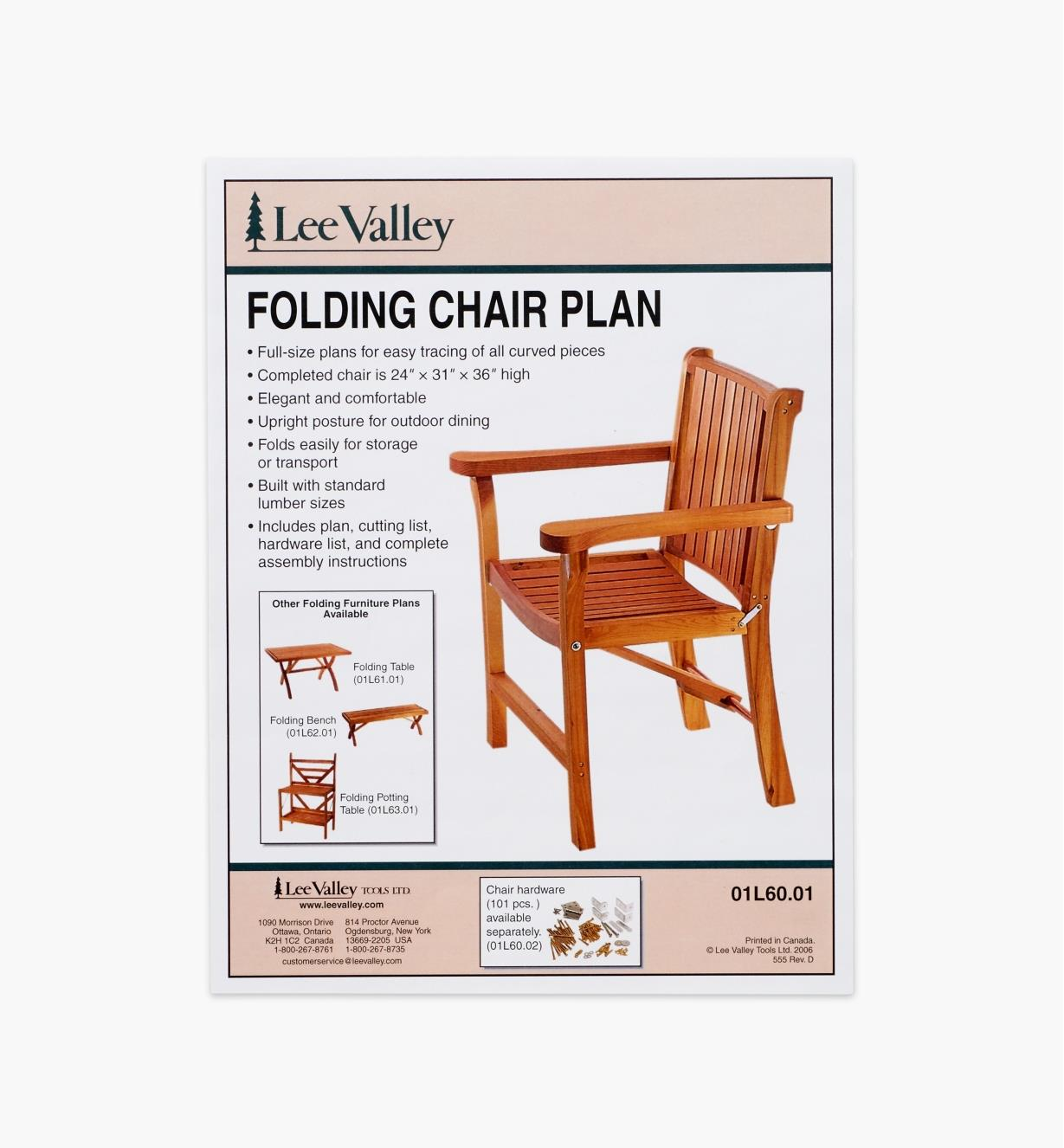 01L6001 - LV Folding Chair Plan