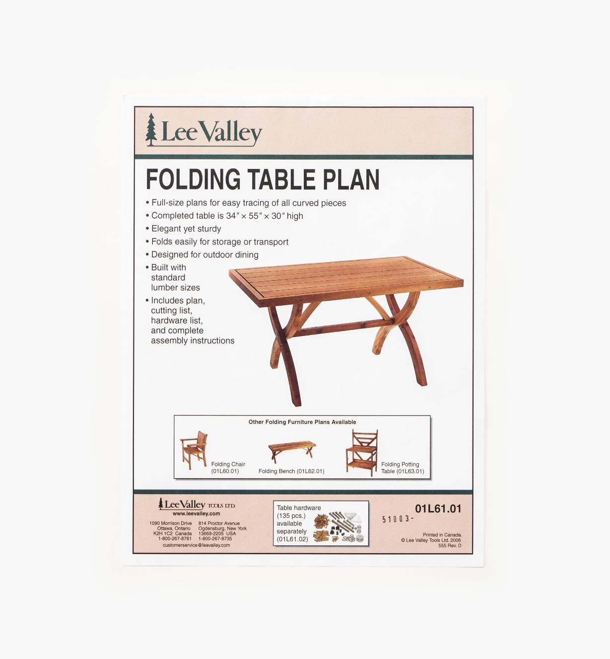 01L6101 - LV Folding Table Plan