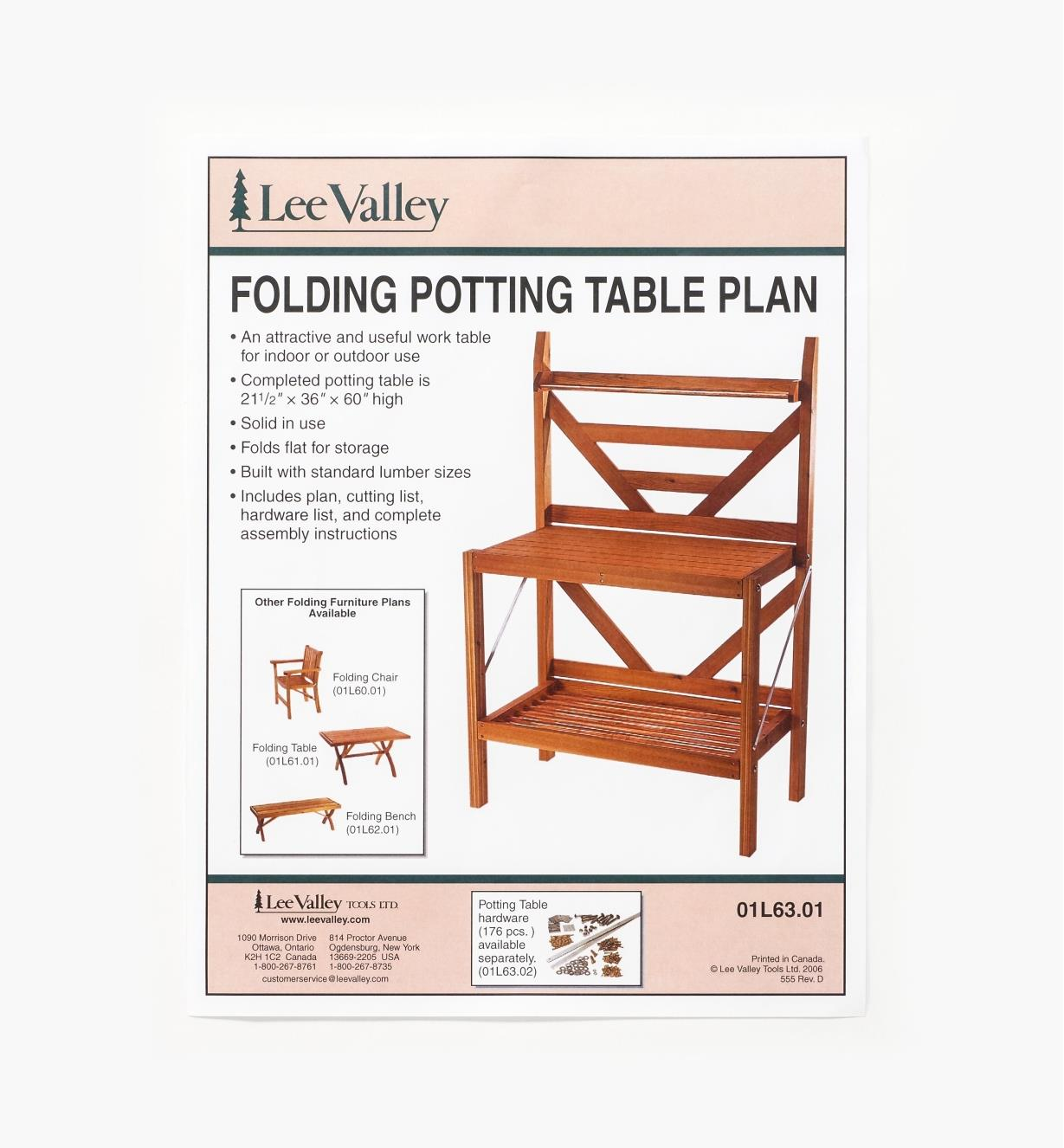 01L6301 - LV Folding Potting Table Plan