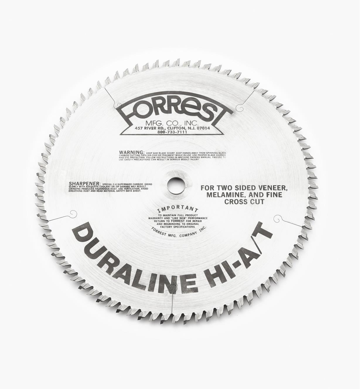 "15T4156 - 10"" x 80-Tooth Duraline, 1/8"" Kerf"