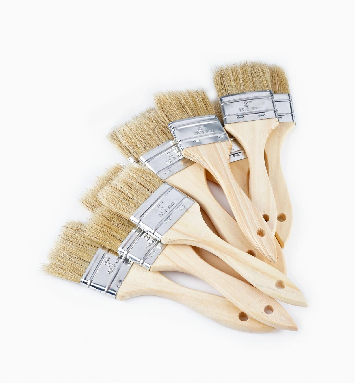 "56z9922 - 2"" Bristle Brushes, pkg of 10"