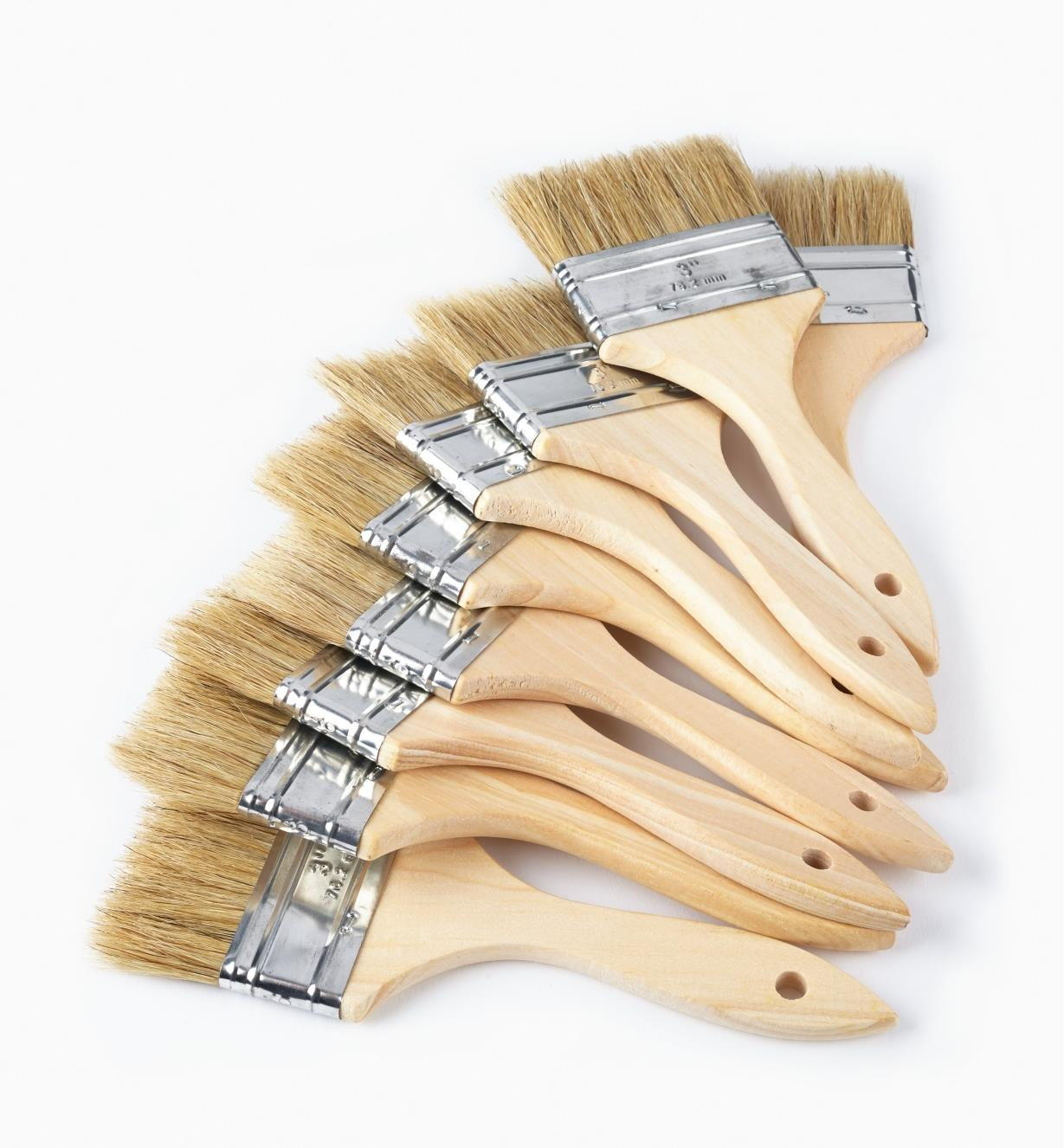 "56z9925 - 3"" Bristle Brushes, pkg of 10"