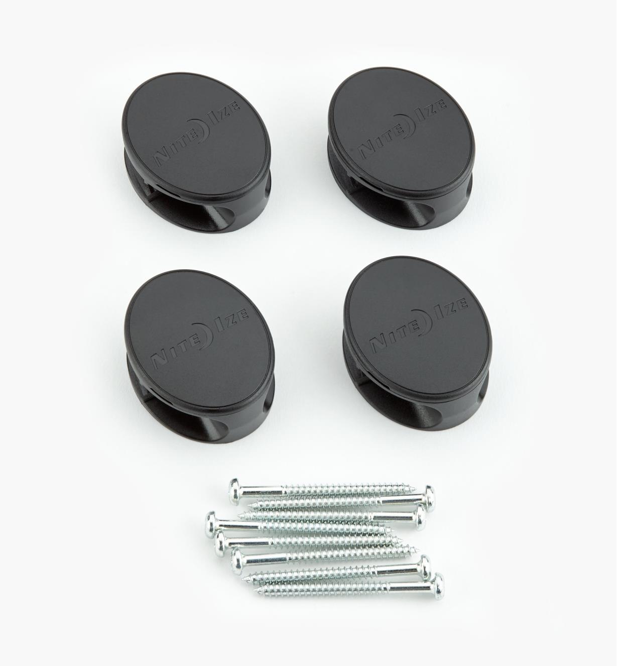 "68K0801 - Dockable Gear Tie Mounting Docks (4) for 18"" + Ties"