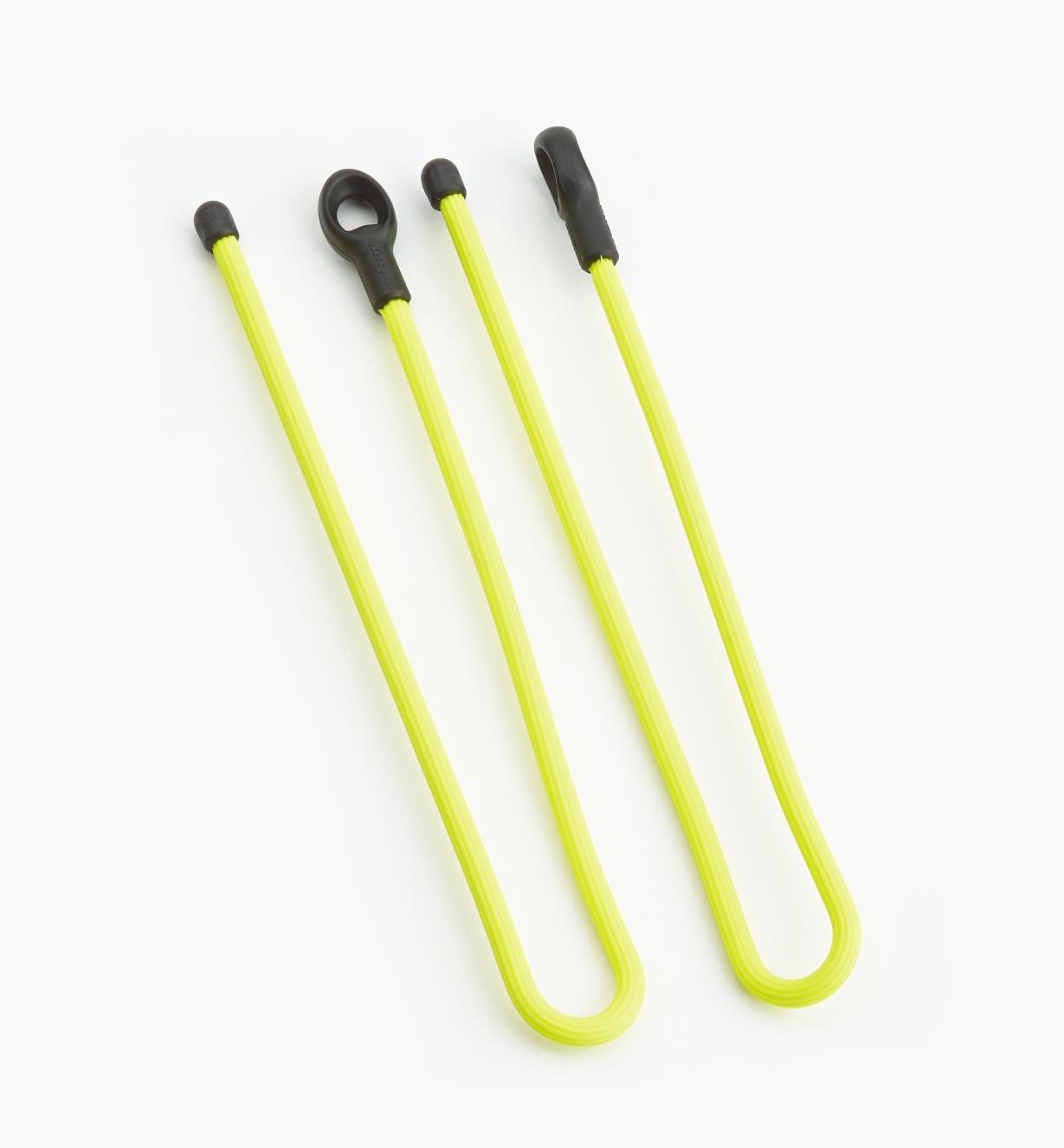 68K0803 - Attaches flexibles de 12po GearTie, jaune, lapaire