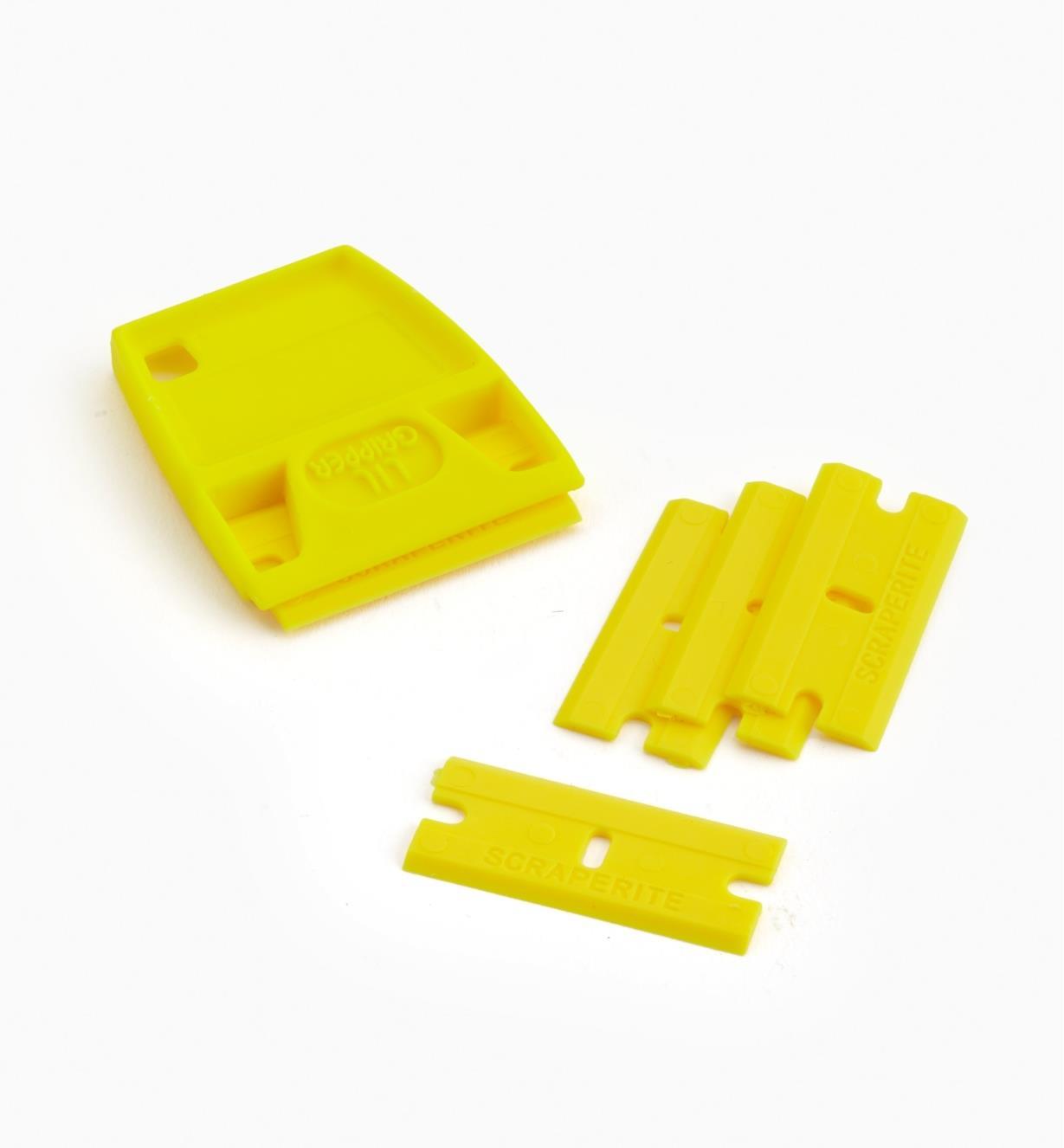86K0318 - Lames jaunes (5) et porte-lame