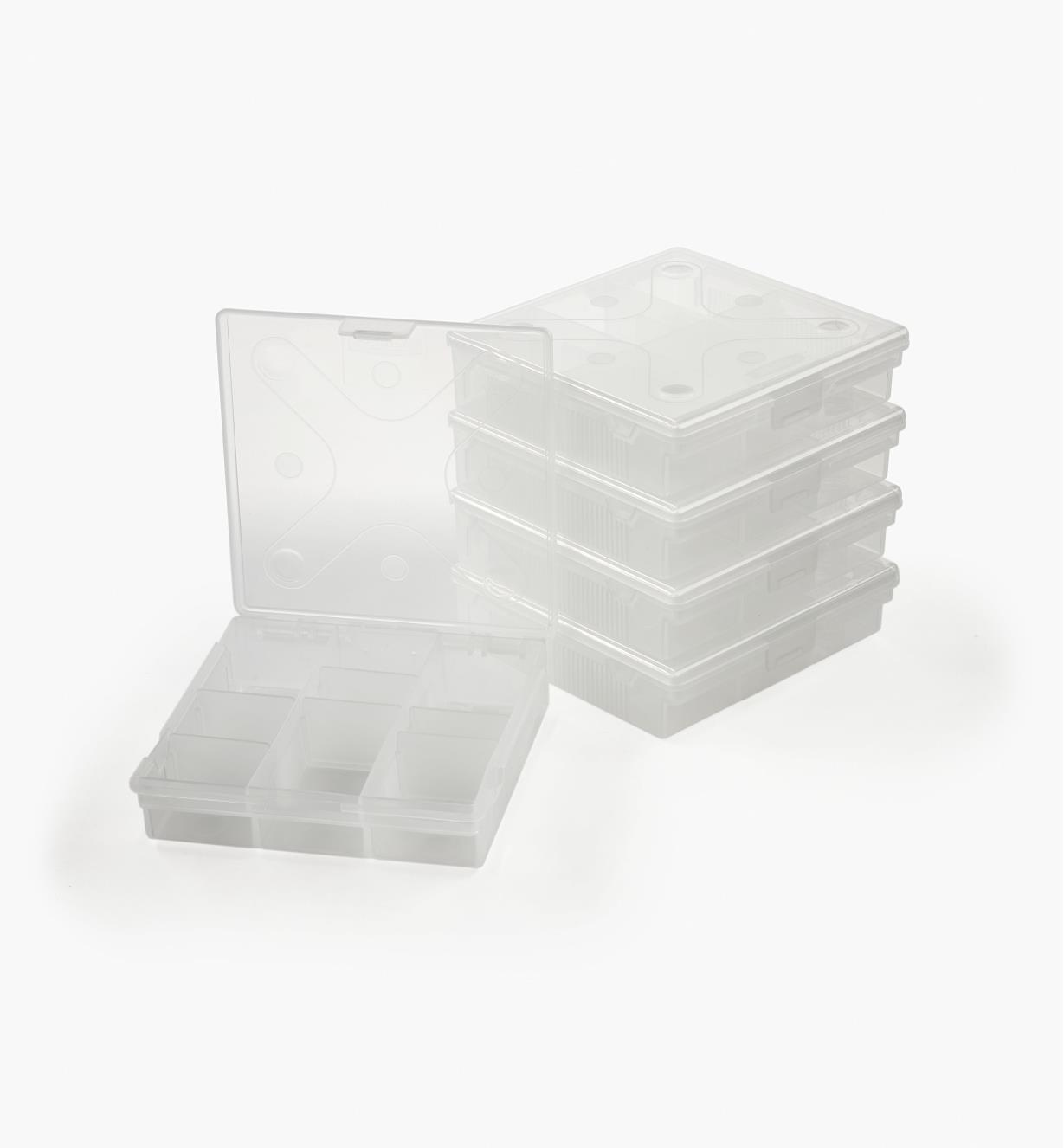 99W0281 - Square Divider Boxes, set of 5