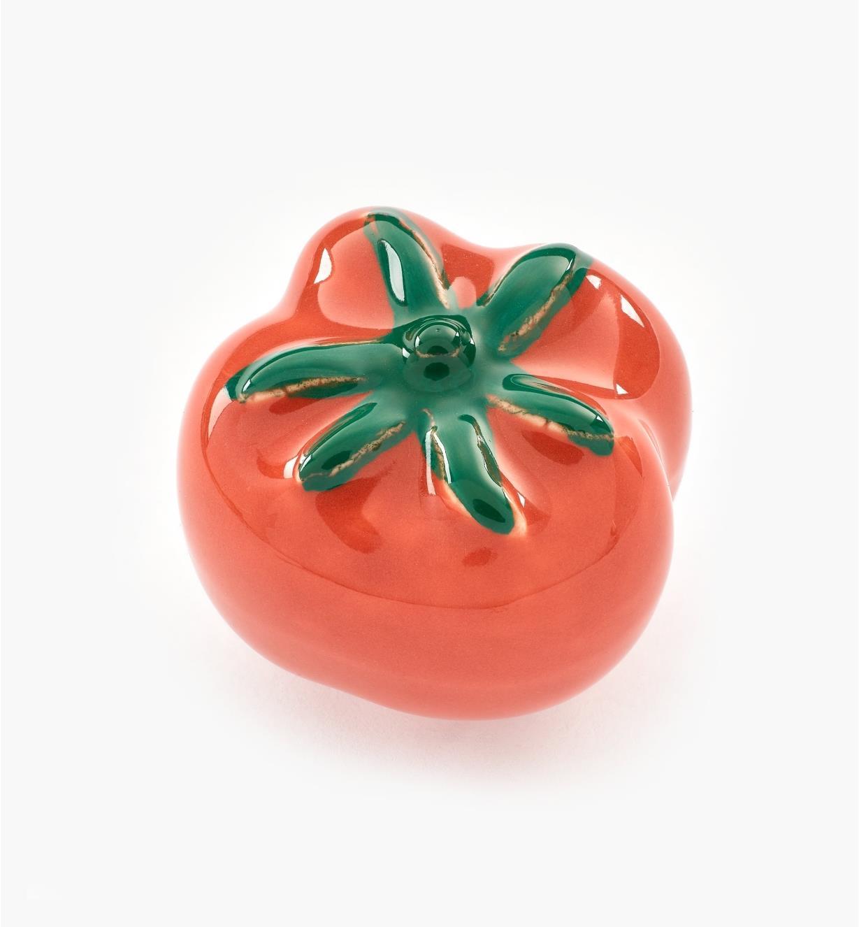 00W5264 - Bouton-tomate en céramique, 1 1/2 po x 1 3/16 po