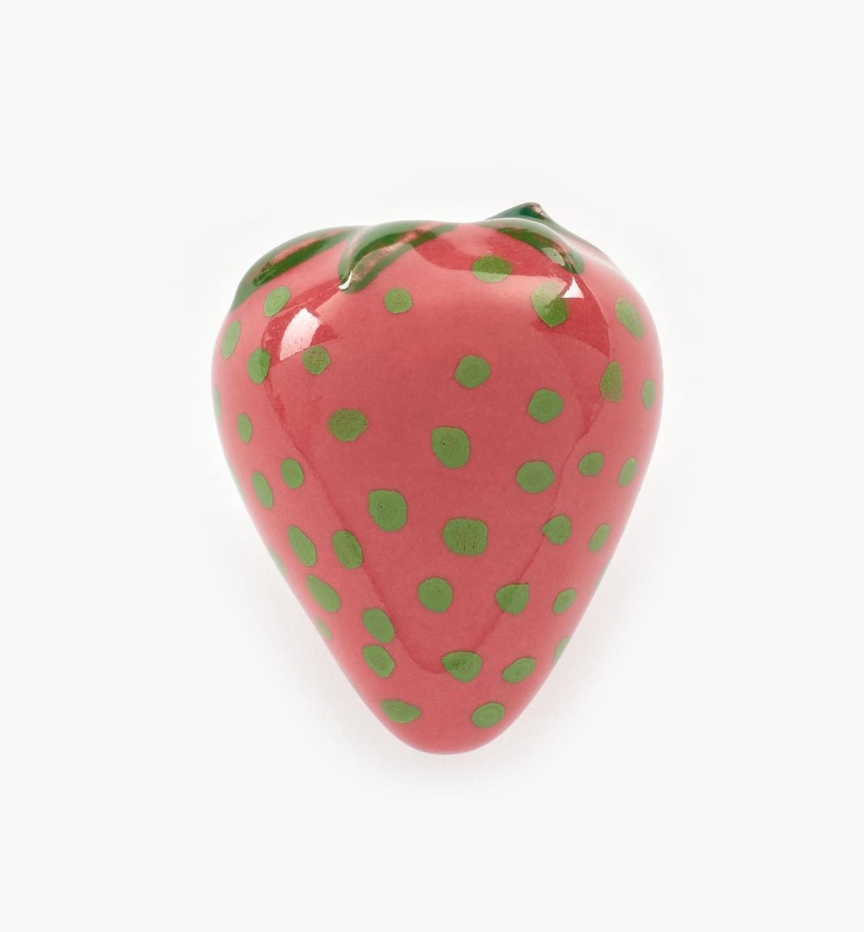 00W5265 - Bouton-fraise en céramique, 1 1/2 po x 1 3/8 po