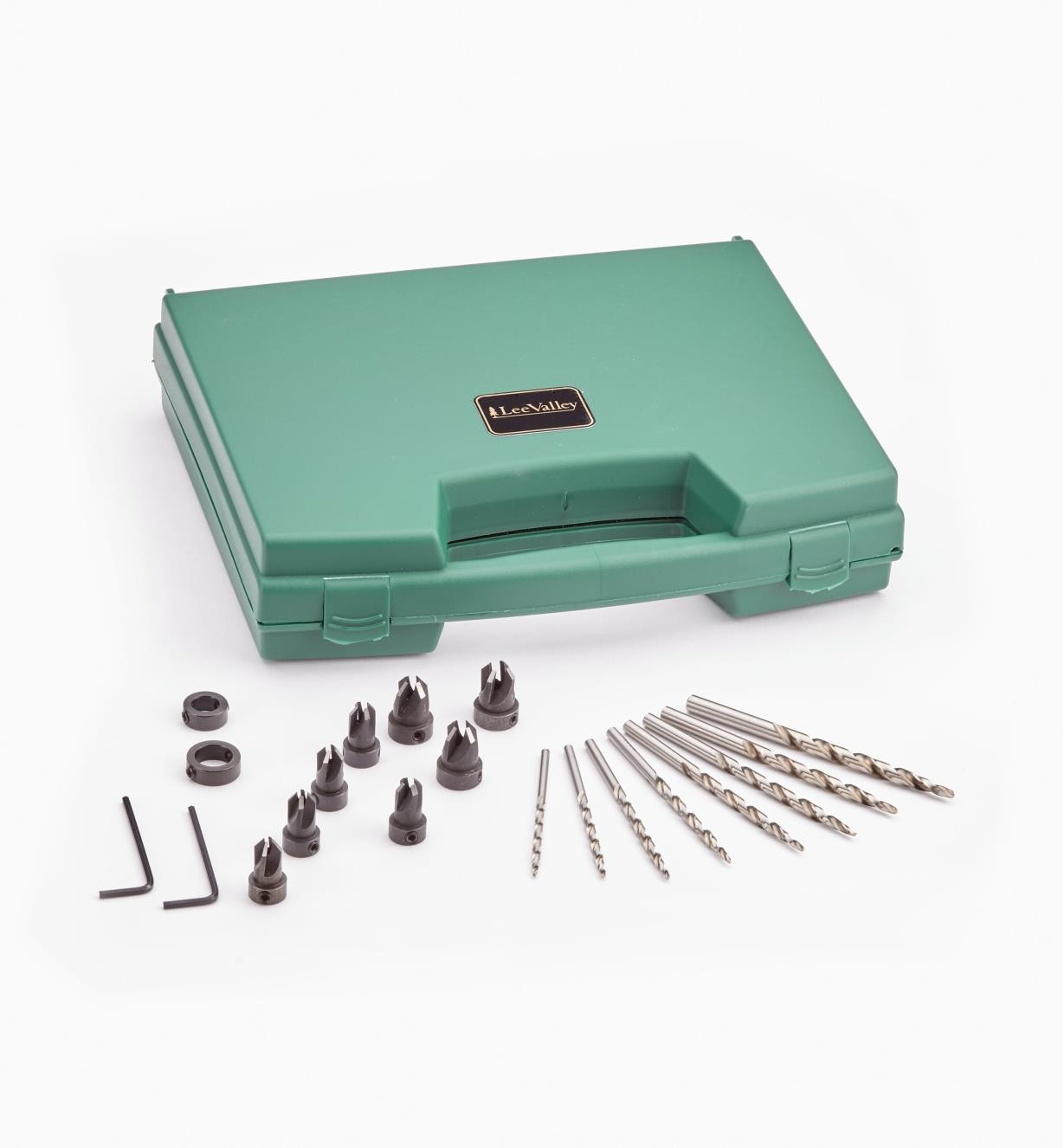 07J1580 - Boxed Set of 8 Complete Drill / Countersink / Counterbore Units (all sizes)