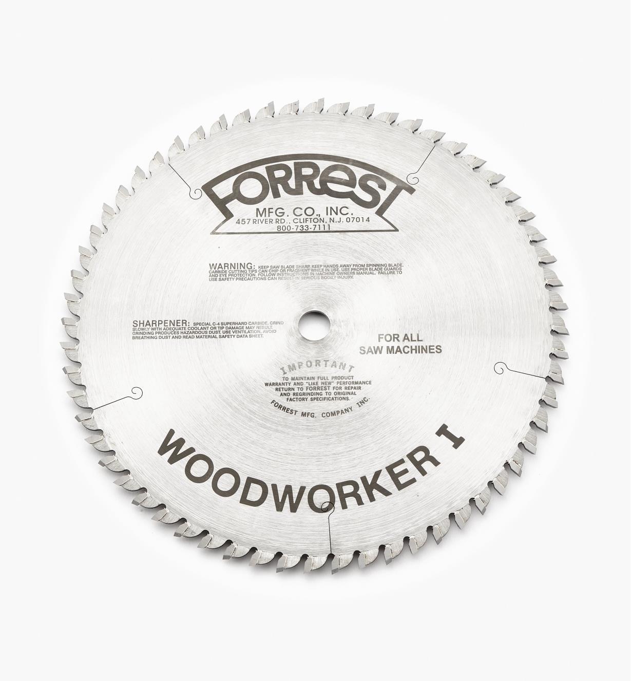 15T4135 - Lame WoodworkerI, 10pox60dents,  trait de 3/32po