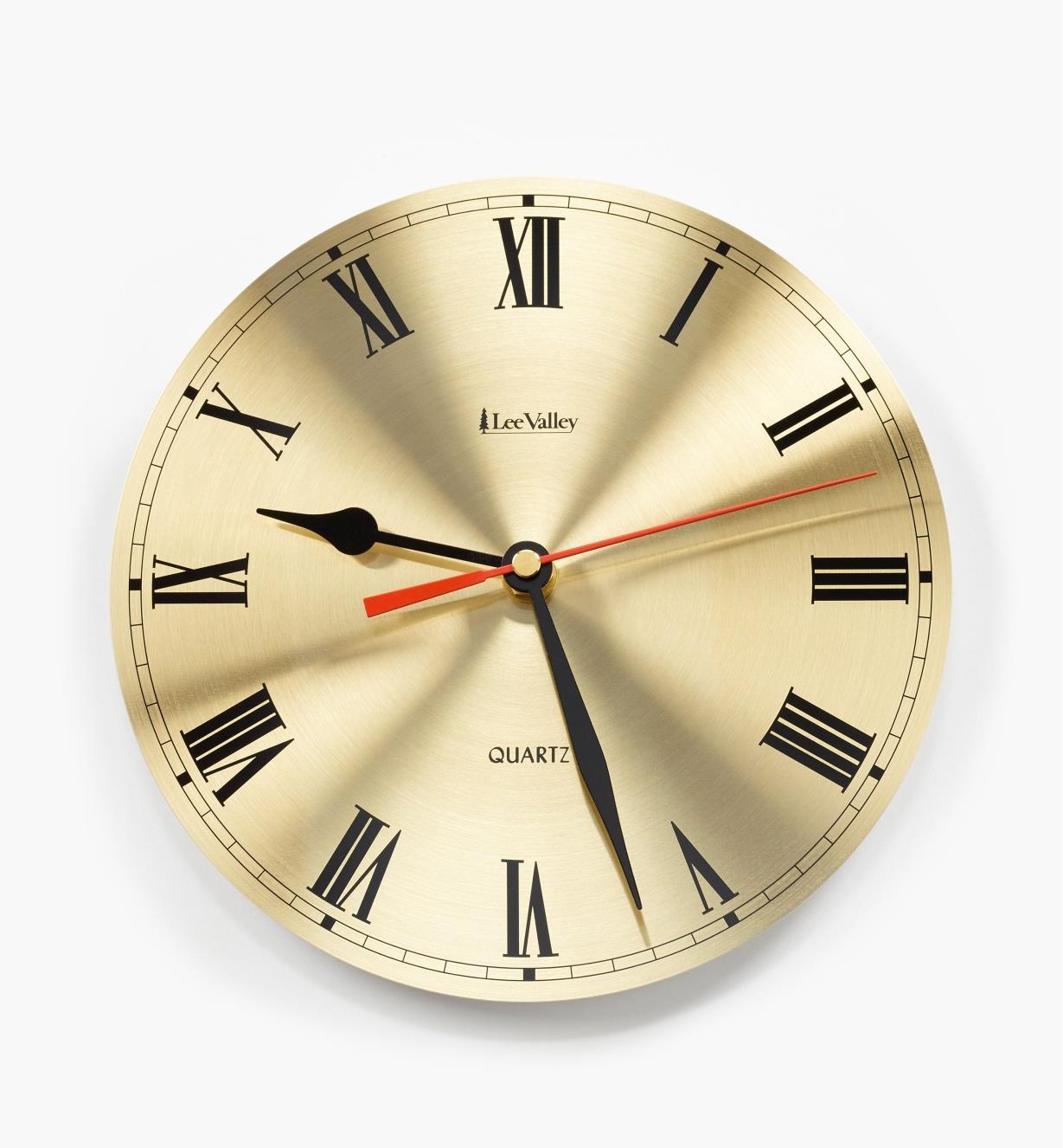93K5002 - Cadran et composants pour horloge à arbre de 1/4po, chiffres romains