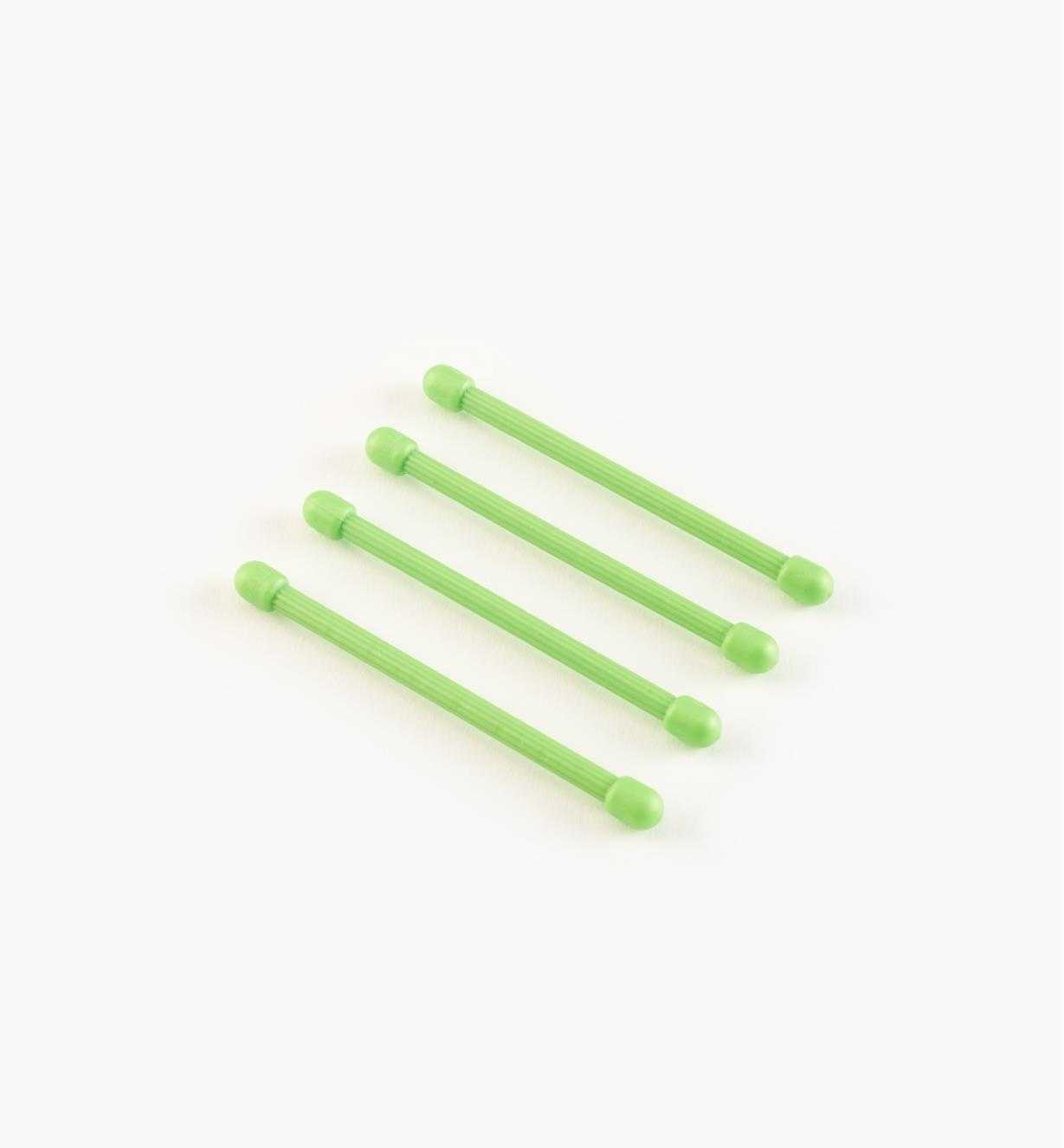 "03K7610 - 3"" Green Gear Tie, pkg. of 4"