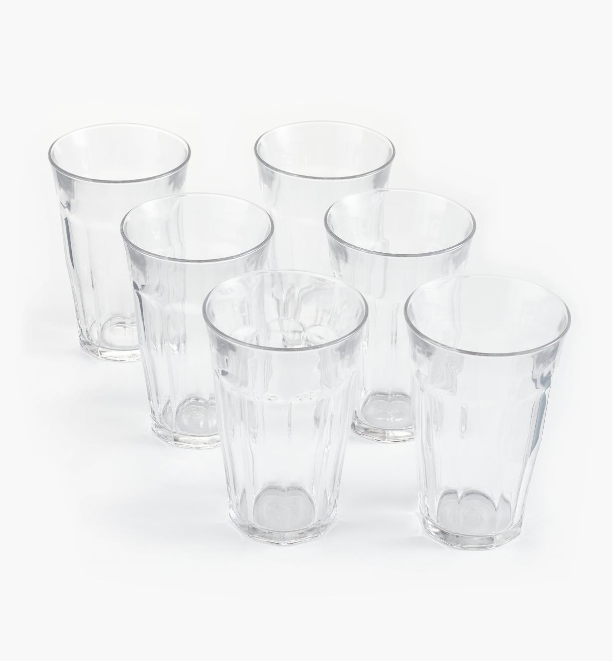 44K0808 - Duralex Picardie 500ml (16.9 fl oz) Glasses, set of 6