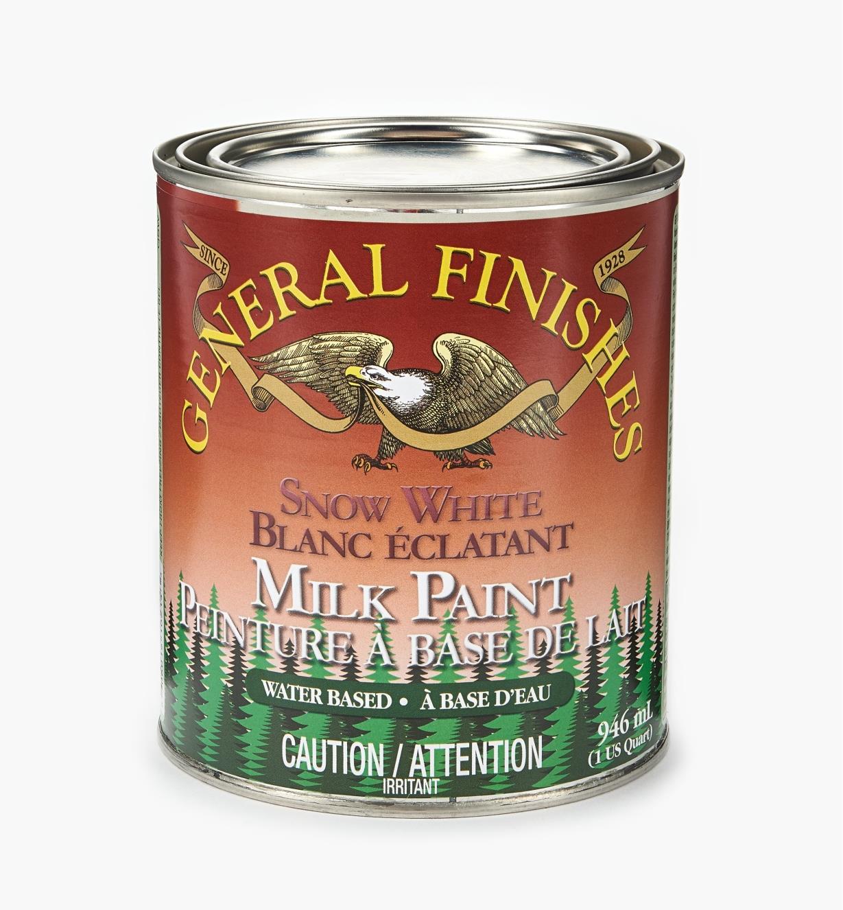 56Z1710 - Snow White General Milk Paint, 1 qt.