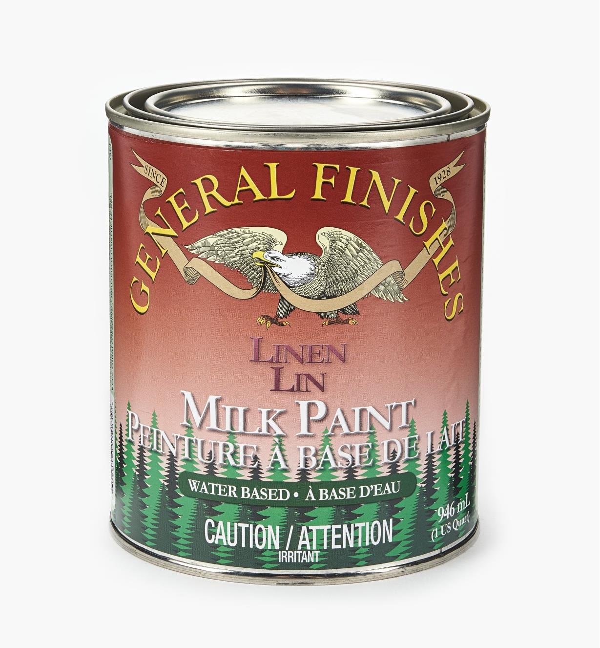 56Z1722 - Linen General Milk Paint, 1 qt.