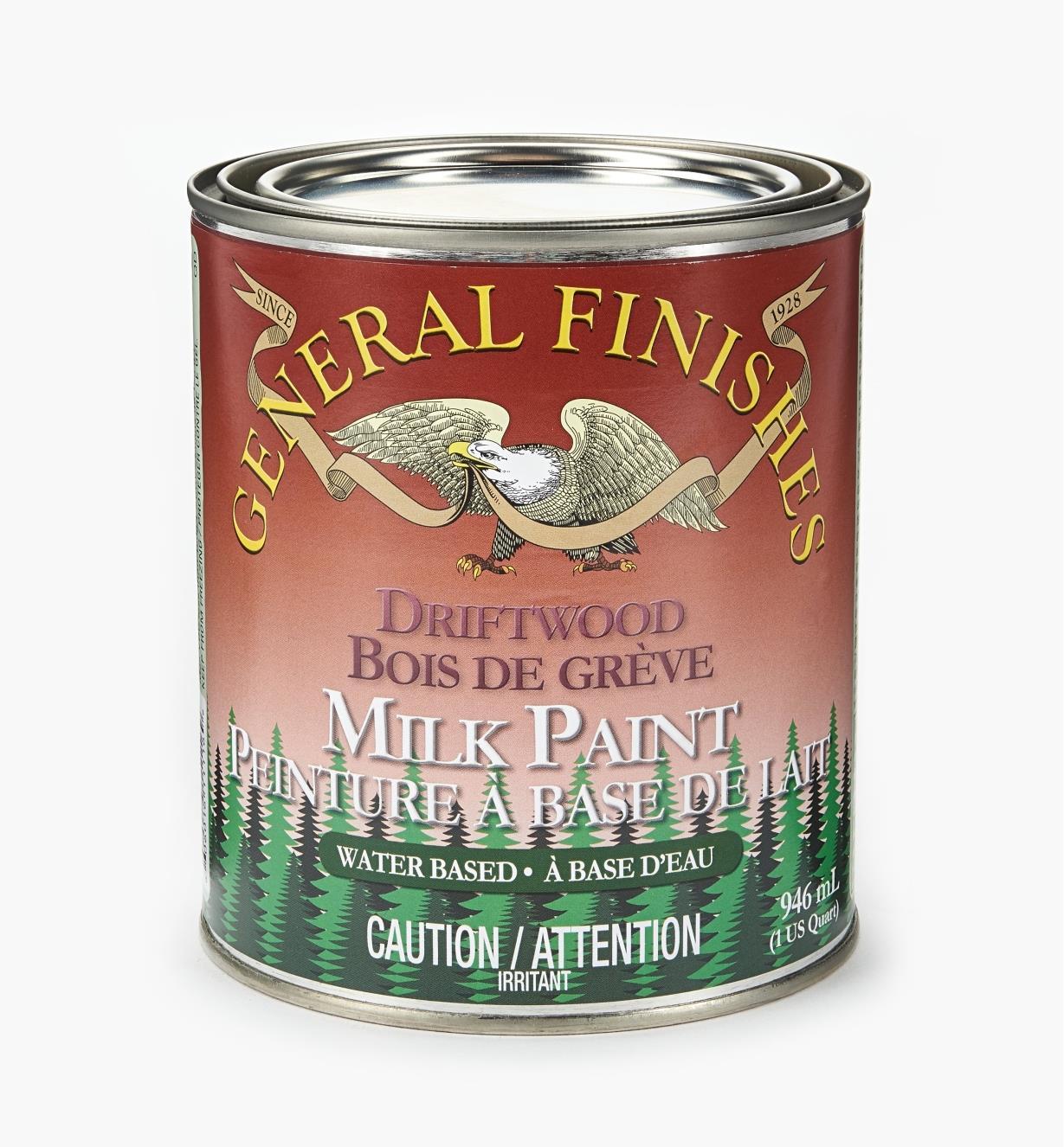 56Z1723 - Driftwood General Milk Paint, 1 qt.