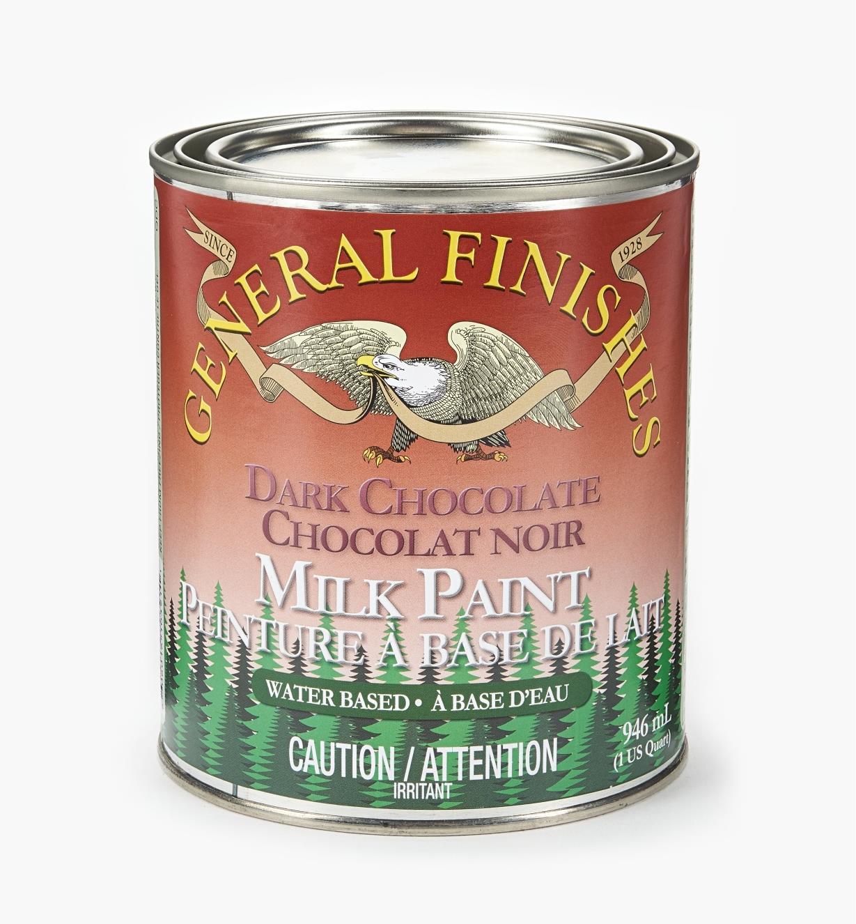56Z1725 - Dark Chocolate General Milk Paint, 1 qt.