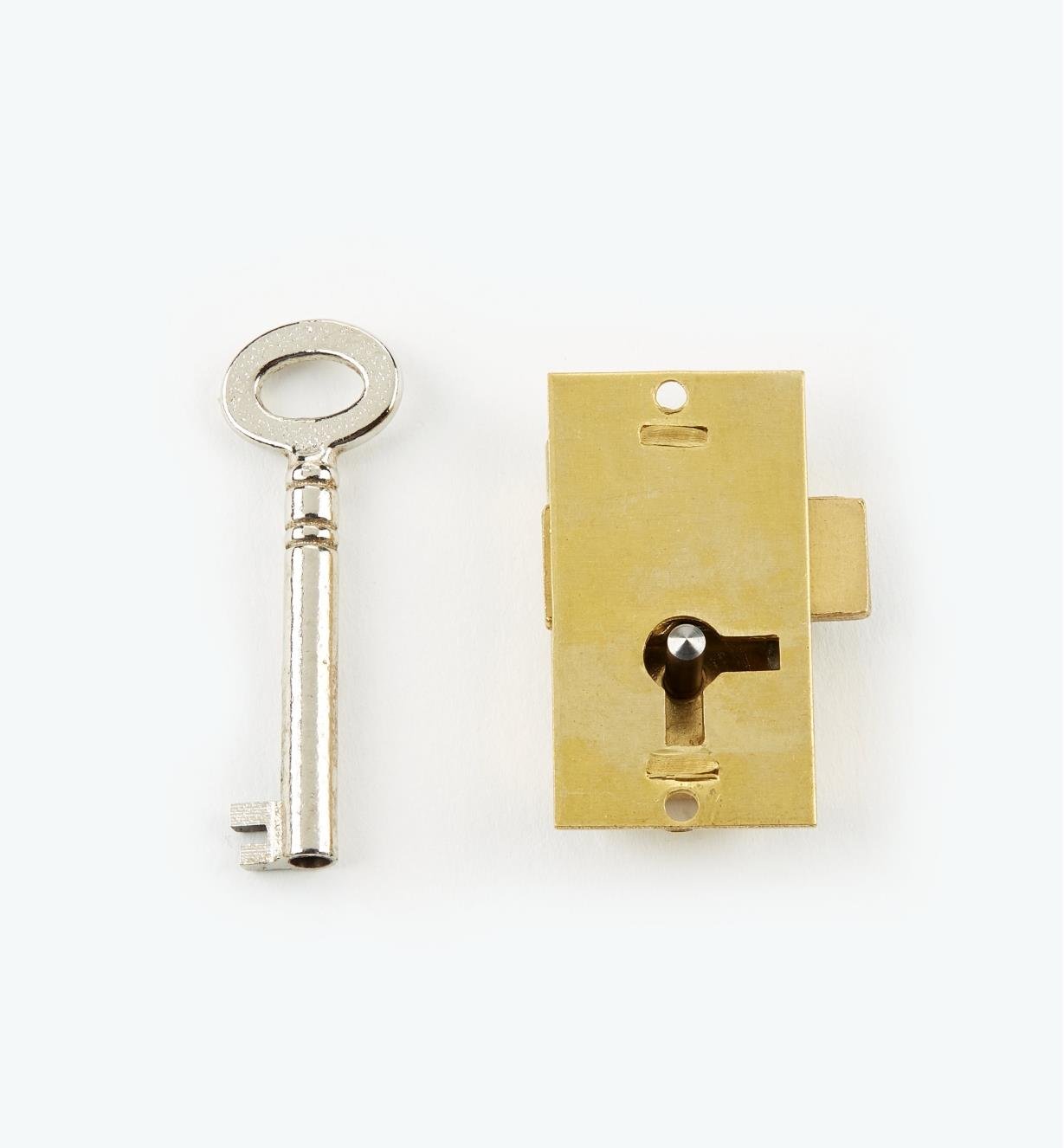 "00P1915 - 1 1/2"" Economy Straight Cupboard Lock"