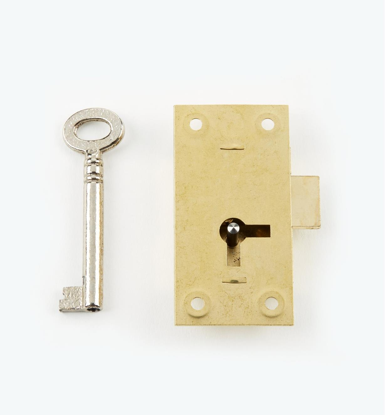 "00P1925 - 2 1/2"" Economy Straight Cupboard Lock"