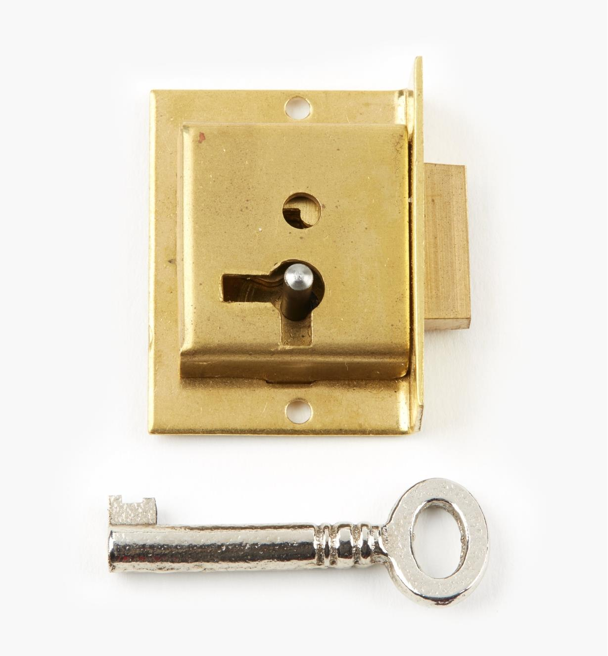 "00P2115 - 1 1/2"" Economy Cut Cupboard Lock (R)"