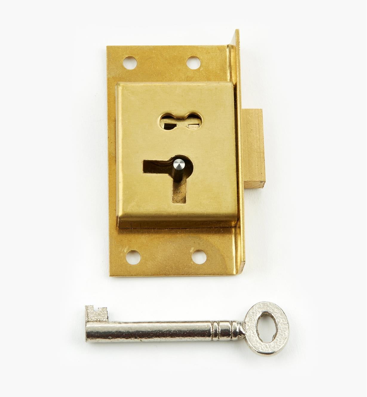 "00P2125  - 2 1/2"" Economy Cut Cupboard Lock (R)"