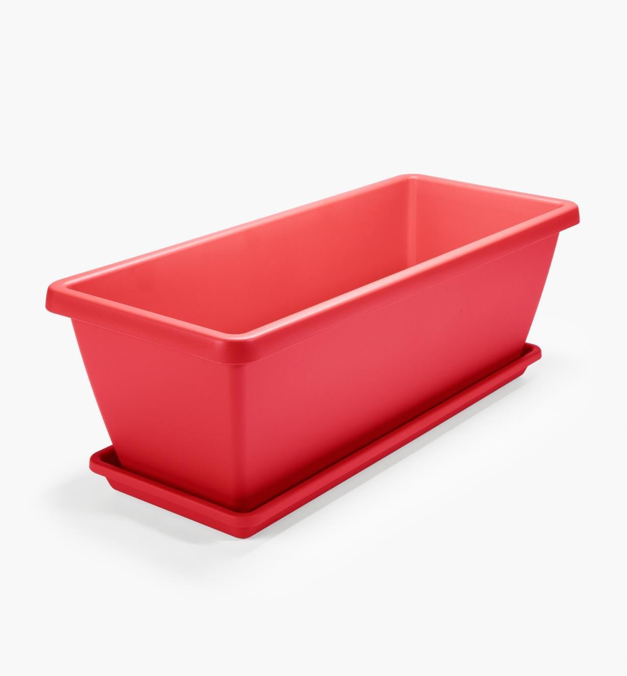 XB758R - Jardinière rectangulaire Elho, rouge