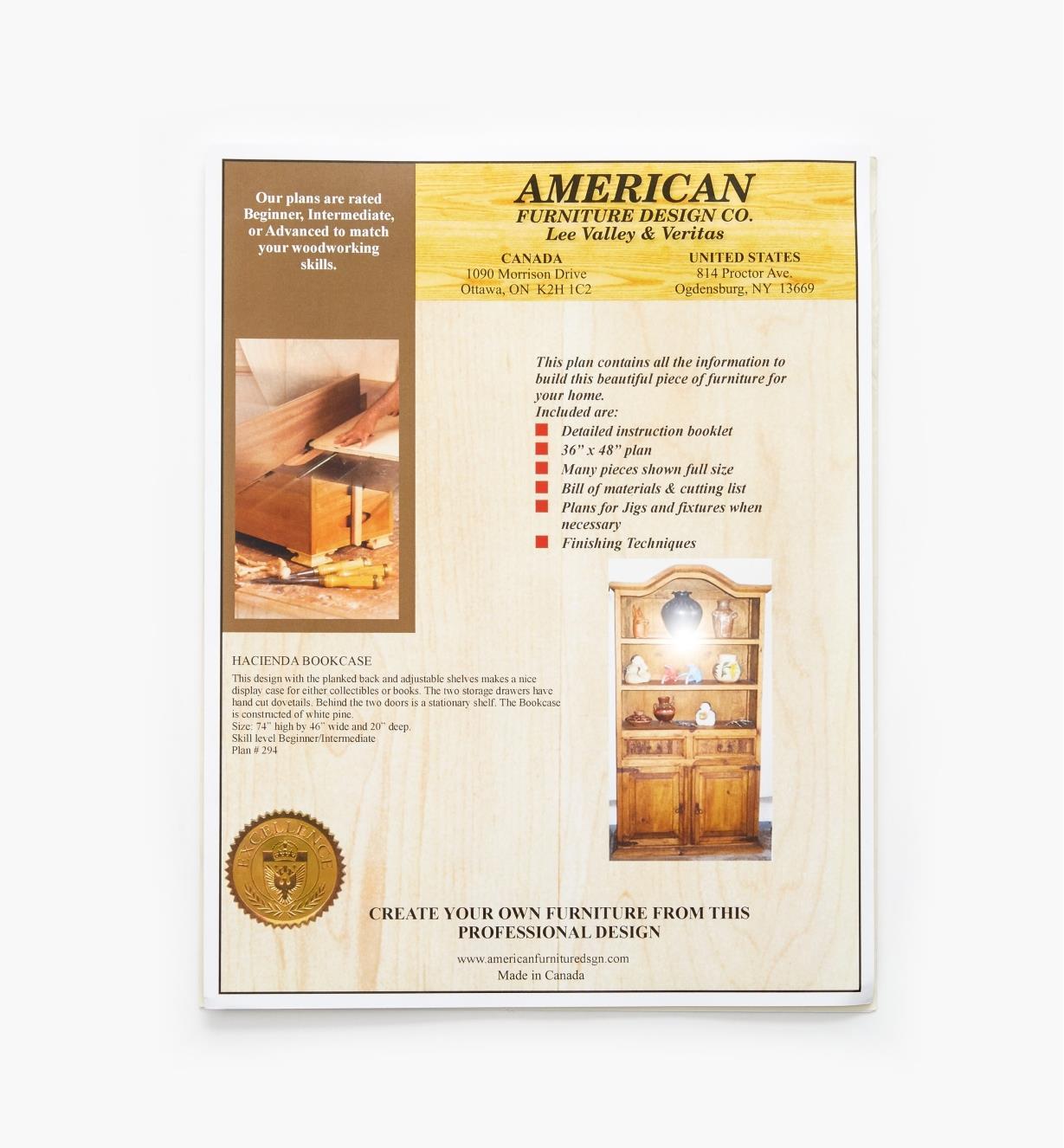 01L5097 - Hacienda Bookcase Plan