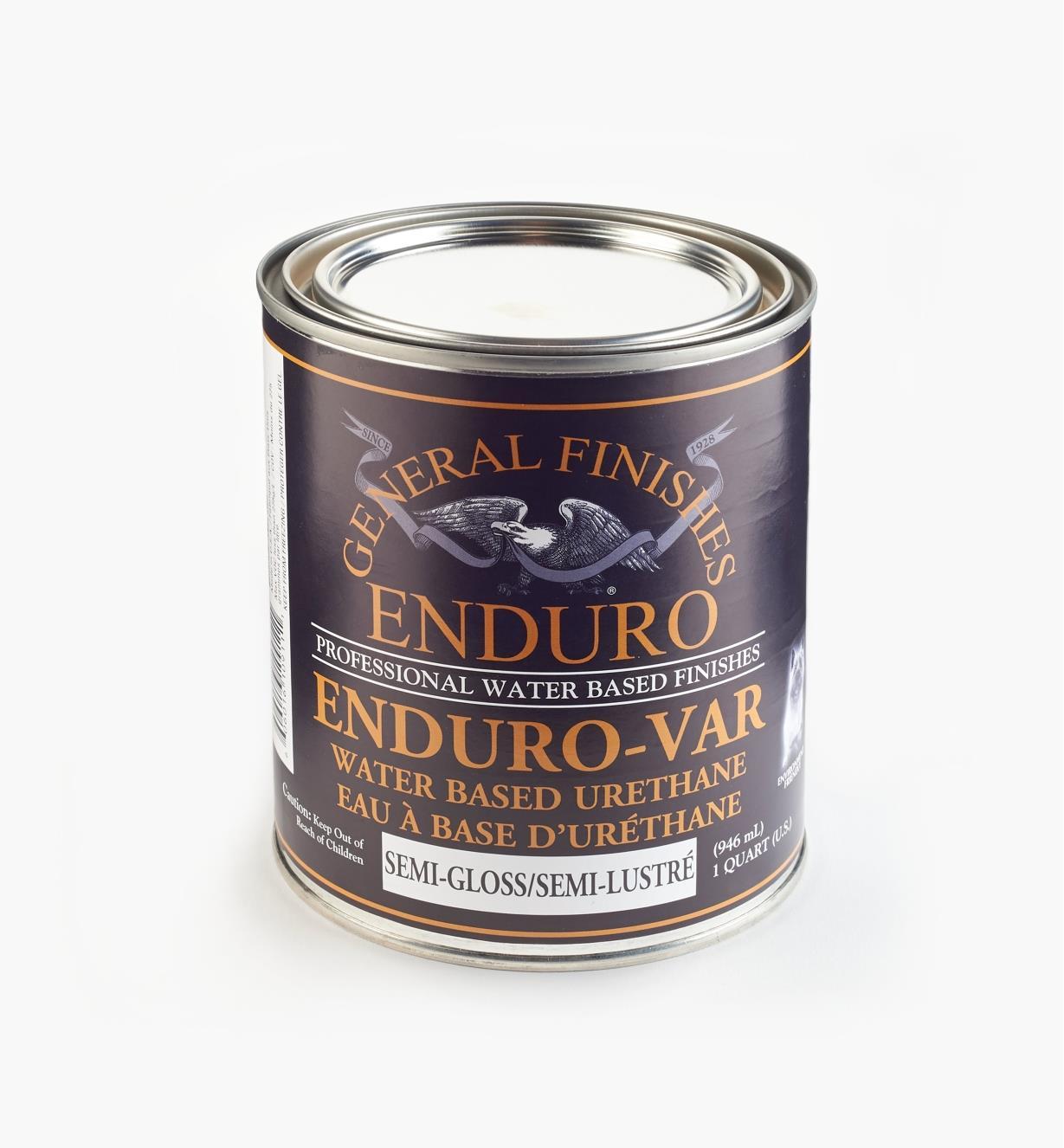 56Z1625 - Semi-Gloss Enduro-Var Water-Based Varnish, 1 qt (946ml)