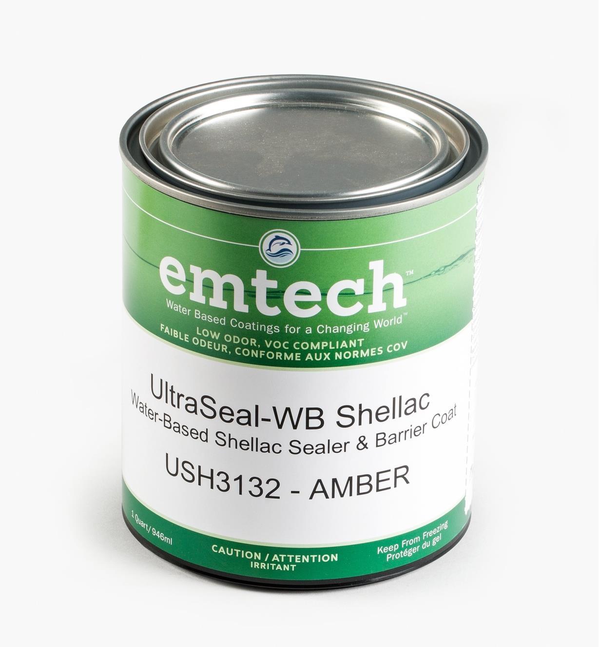 56Z1910 - Emtech Water-Based Shellac Sealer, Quart