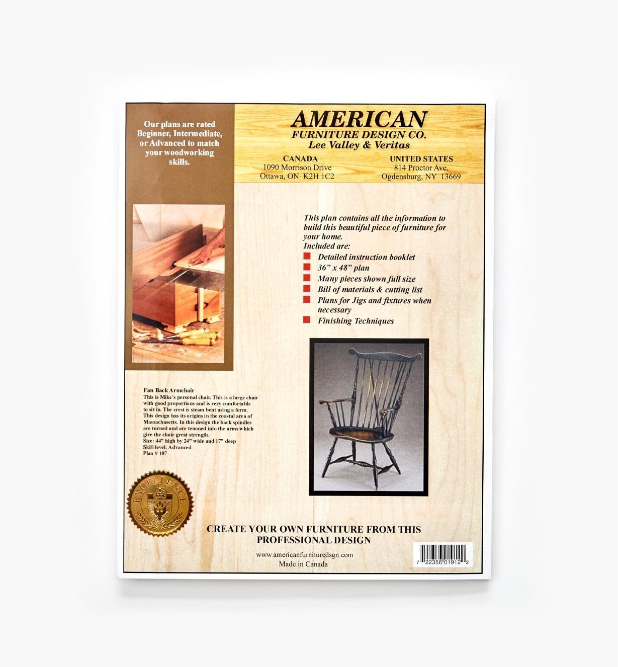01L5047 - Fan-Back Armchair Plan