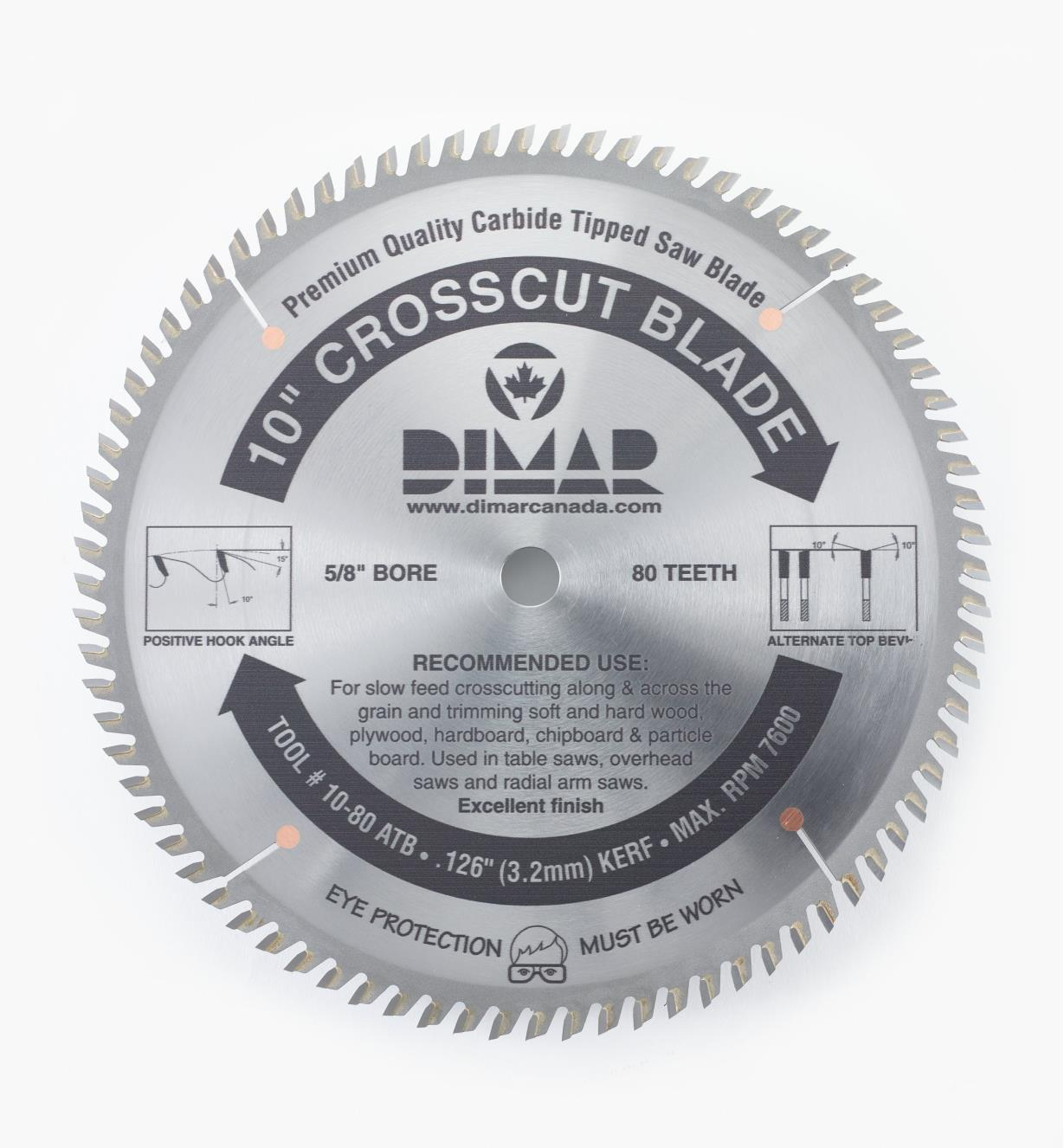"15T4010 - X-fine Cut-Off Blade, 10"" x 80 tooth"