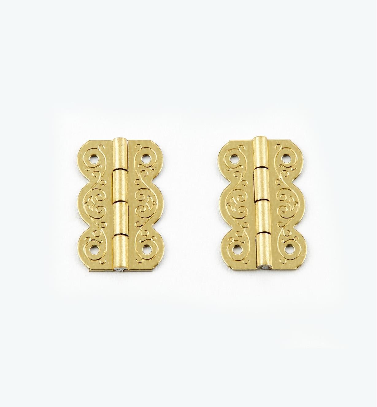 00D3501 - 20mm x 13mm FiligreeHinges, pr.